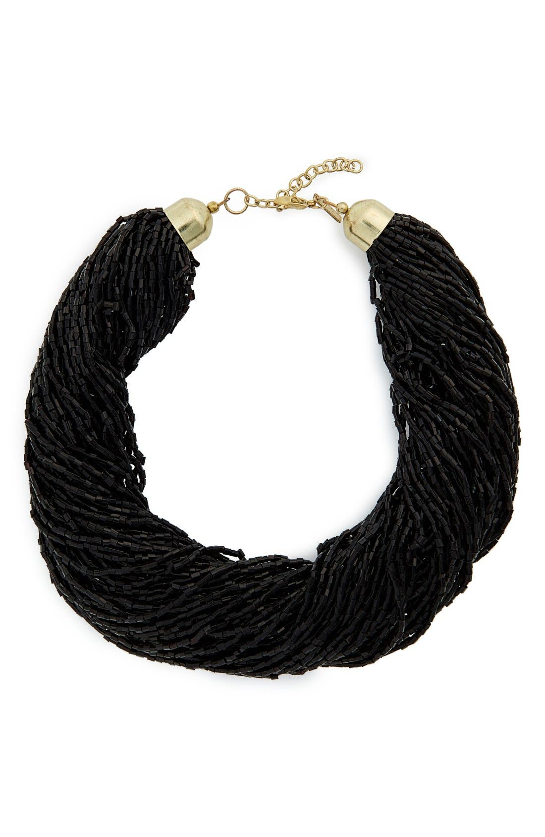 Alternate Image 1 Selected - Topshop Bead Multistrand Necklace