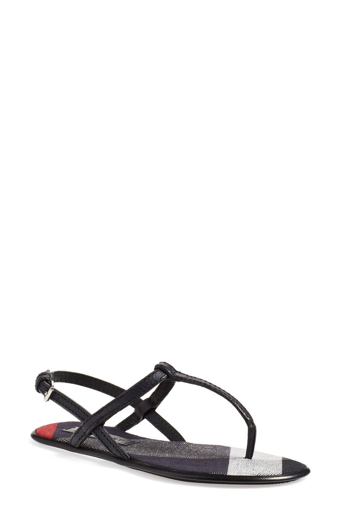 Main Image - Burberry 'Ingeldew' T-Strap Sandal (Women)