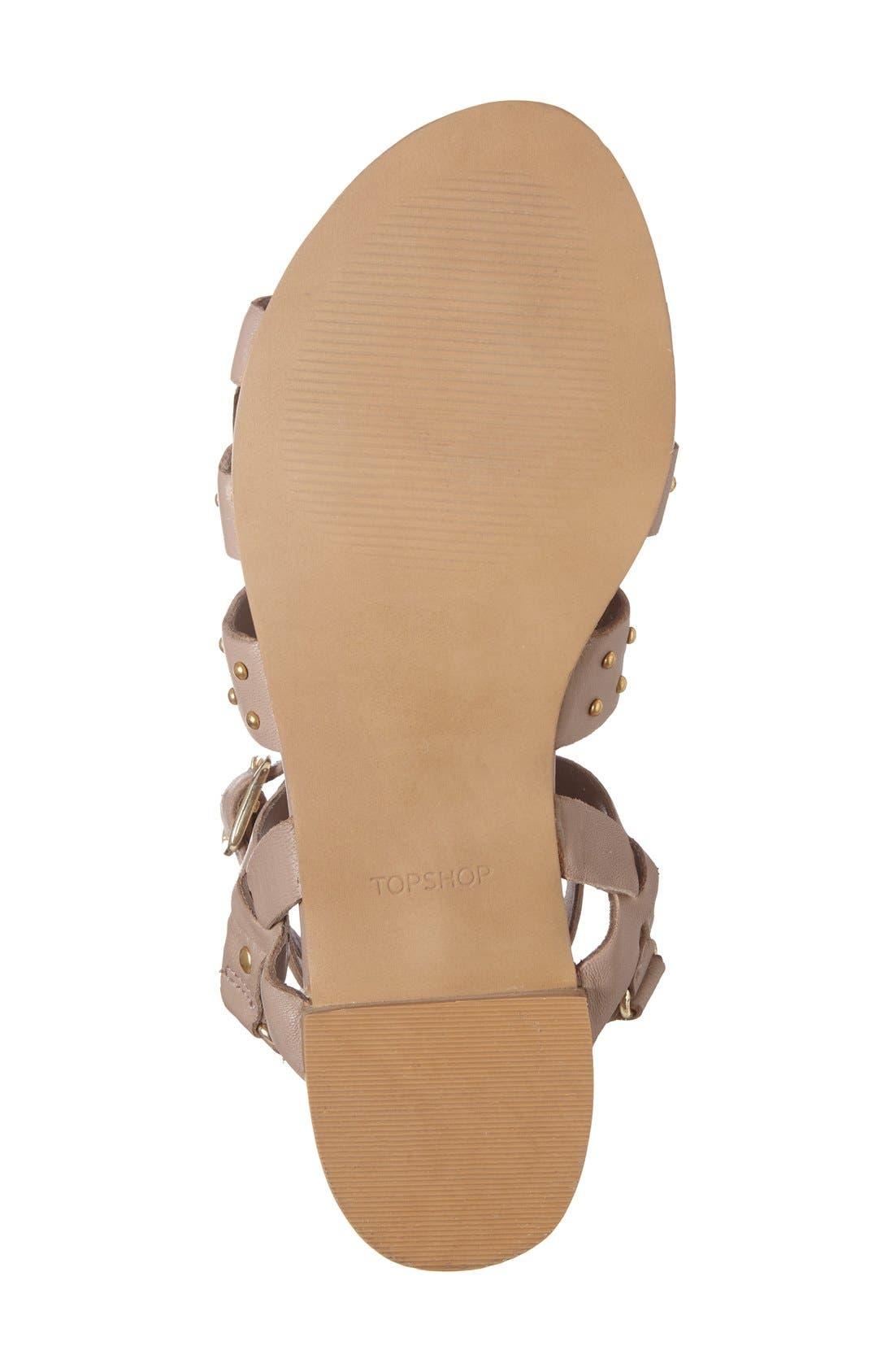 Alternate Image 4  - Topshop 'Flame' Stud Wraparound Ankle Strap Sandal (Women)