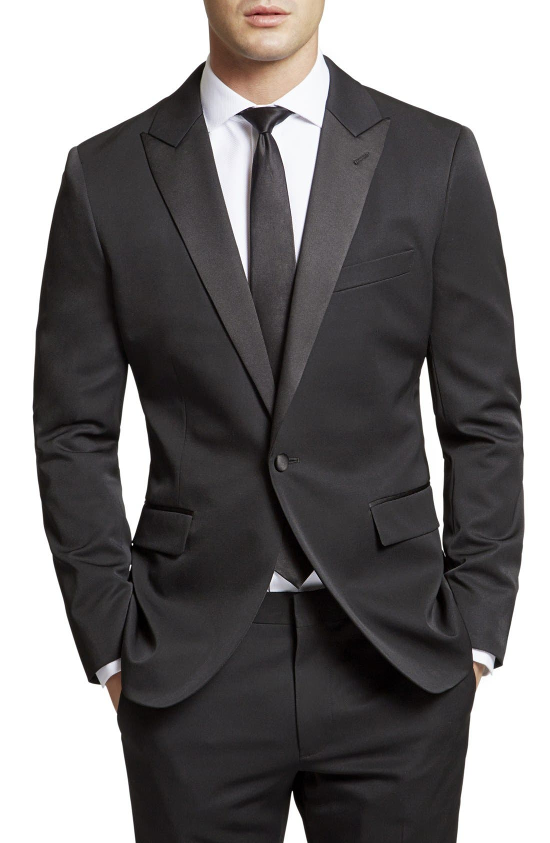 Alternate Image 1 Selected - Bonobos Trim Fit Wool Dinner Jacket