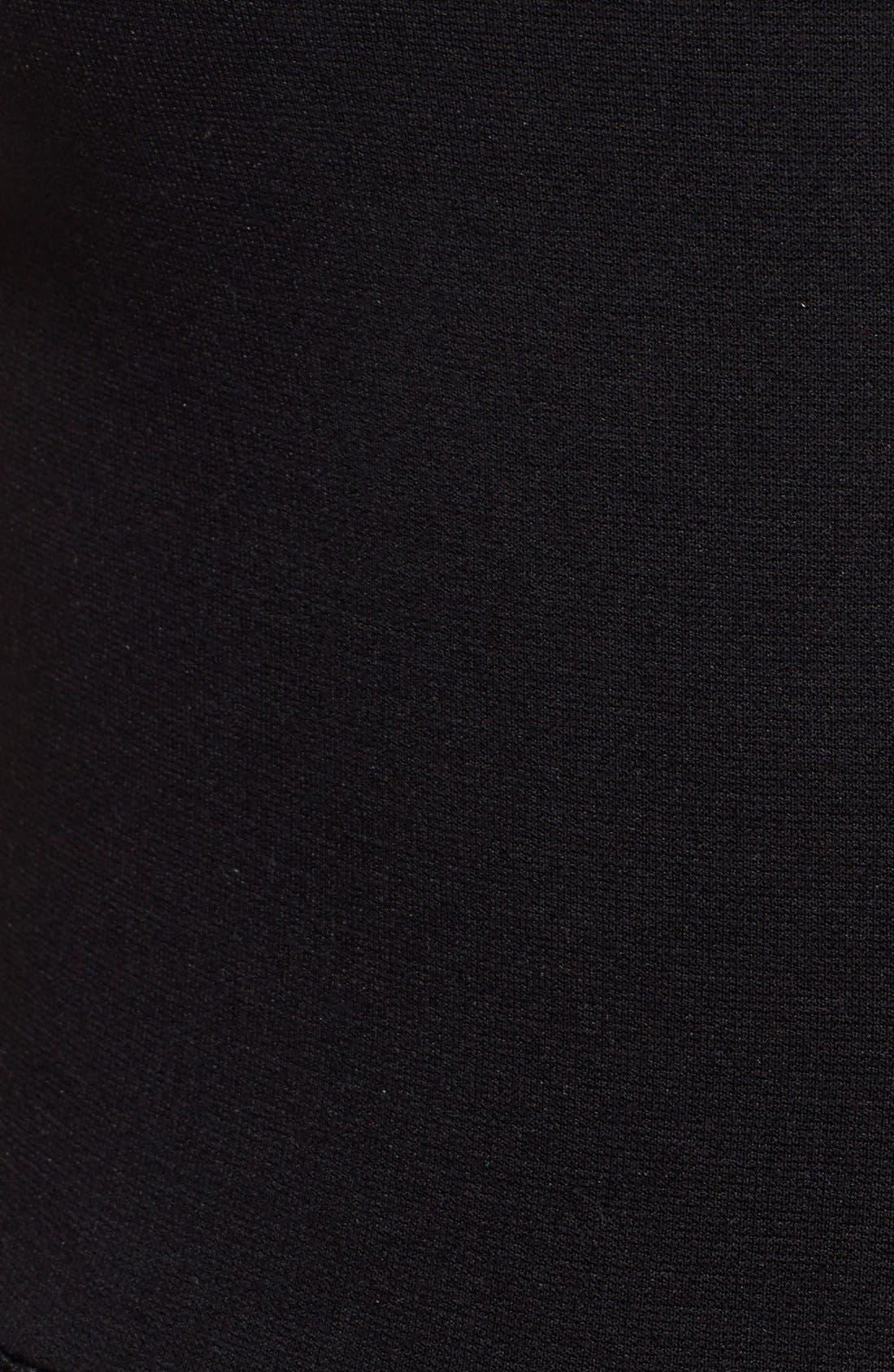 'Tania' Mesh Insets Jumpsuit,                             Alternate thumbnail 5, color,                             Black