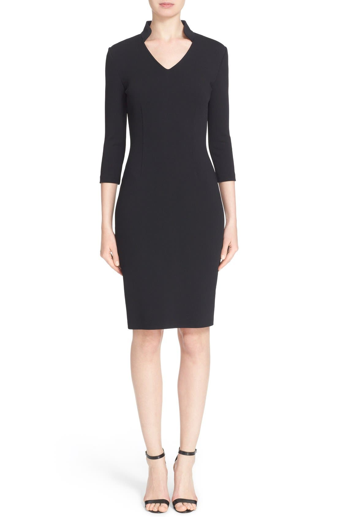 Main Image - St. John Collection Luxe Sculpture Knit Sheath Dress