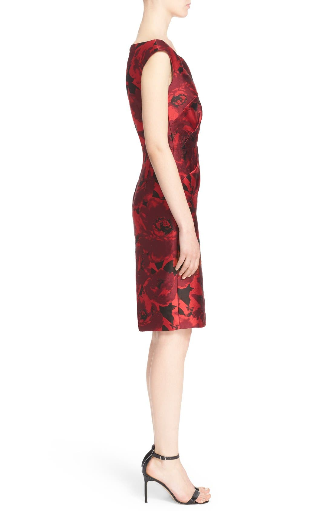 Alternate Image 5  - St. John Collection 'Ombré Peony' Jacquard Sheath Dress