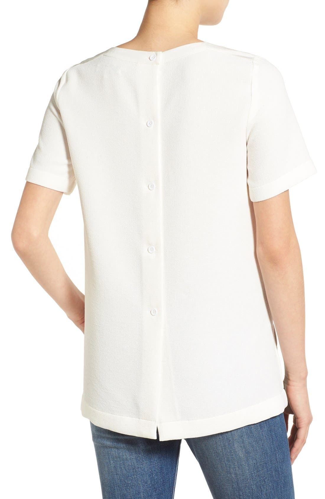 Alternate Image 2  - Madewell Short Sleeve Button Back Top