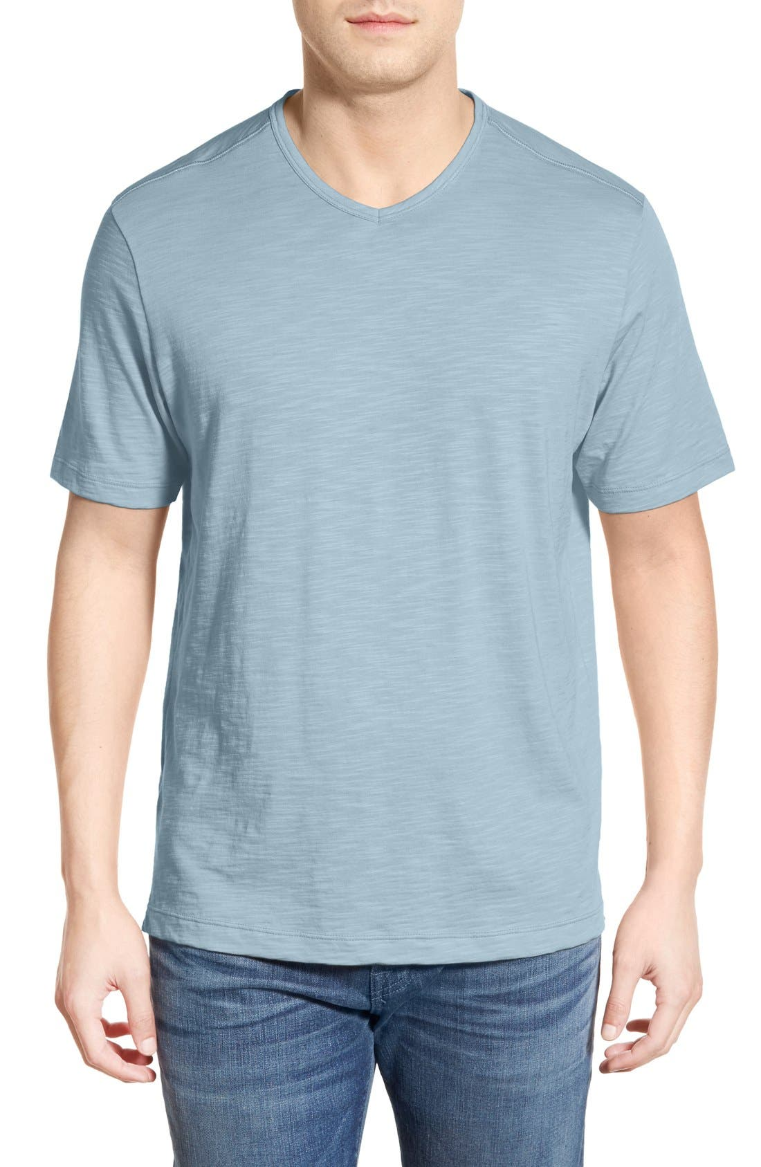 'Portside Player' Pima Cotton T-Shirt,                             Main thumbnail 1, color,                             Icy