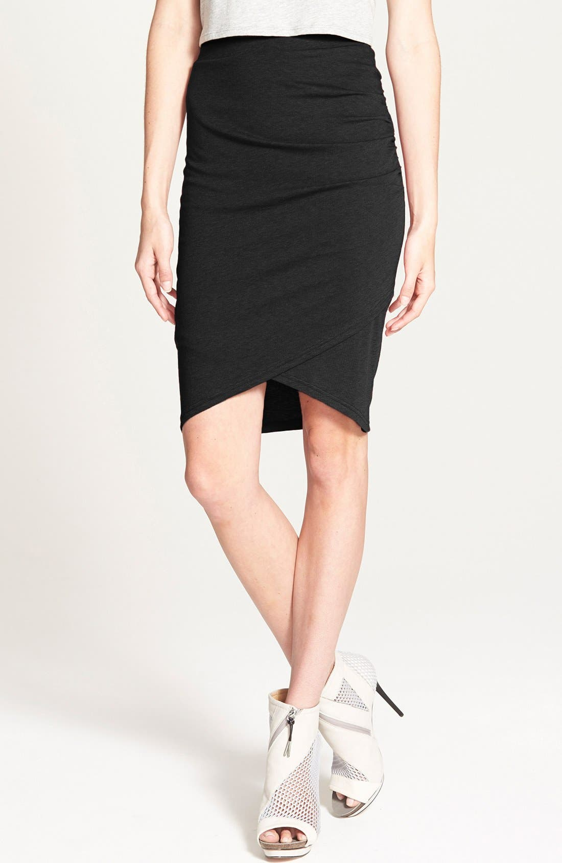 Alternate Image 1 Selected - Leith Ruched Body Con Skirt