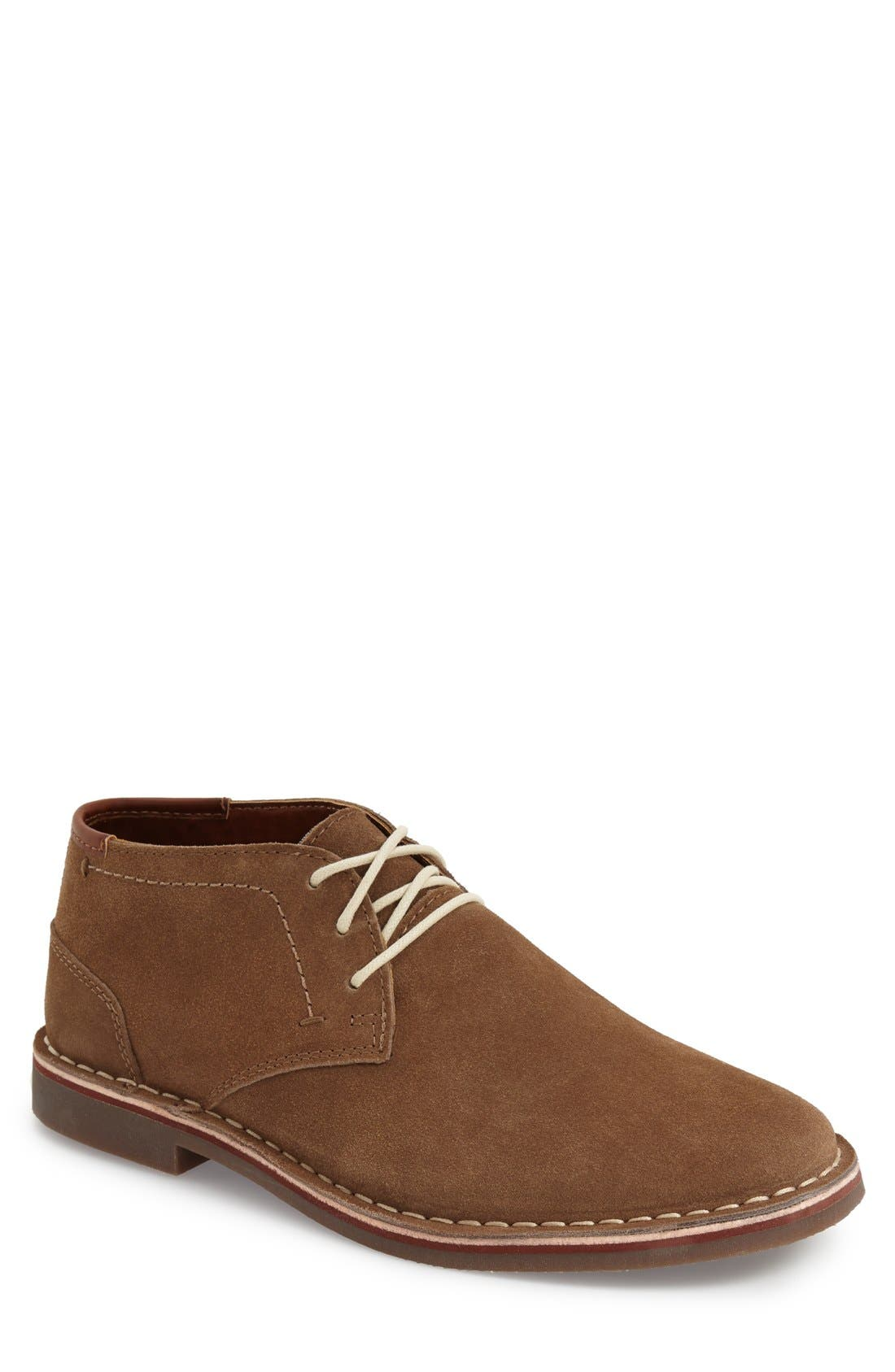 'Desert Sun' Chukka Boot,                             Main thumbnail 1, color,                             Taupe Suede