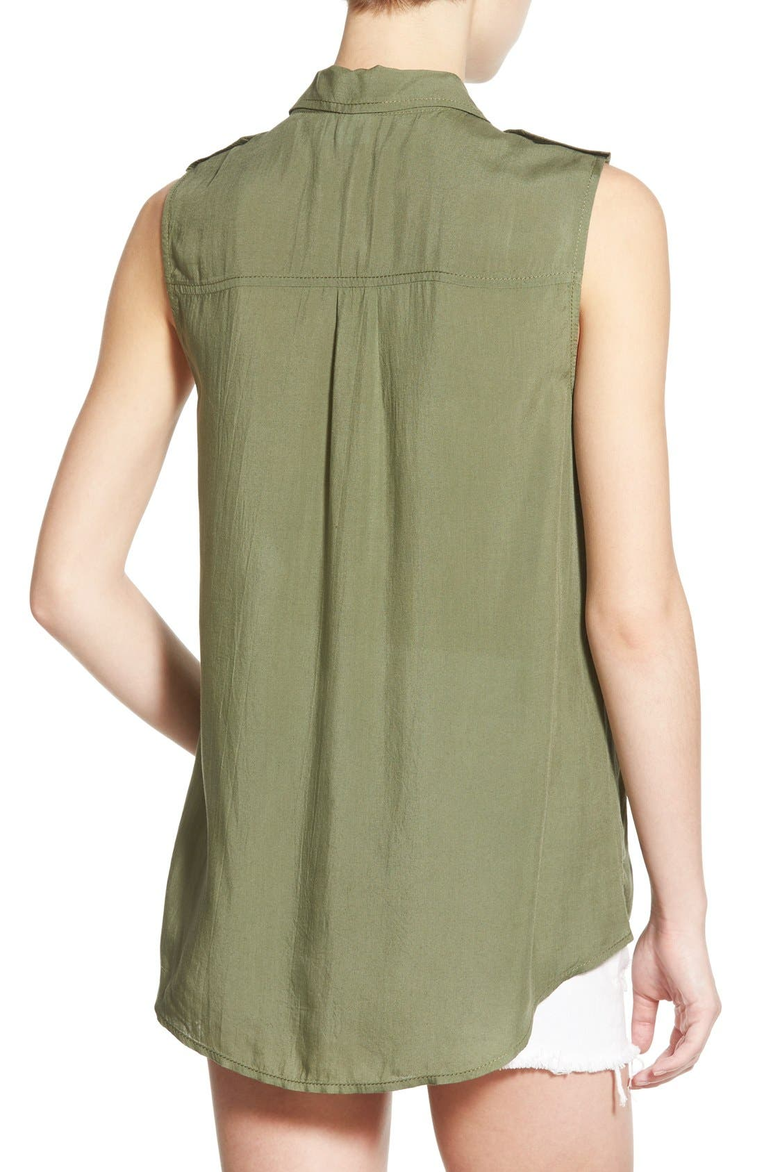 Alternate Image 2  - BP. Sleeveless Safari Shirt