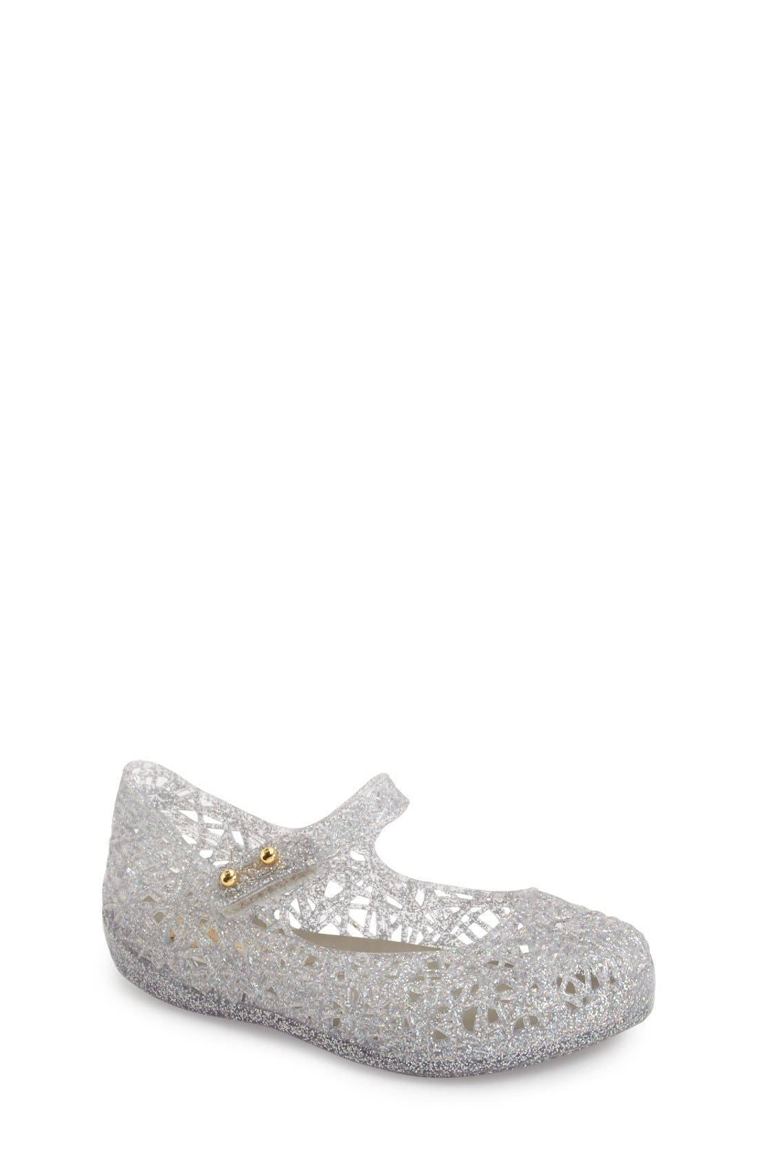 Mini Melissa 'Campana' Mary Jane Flat (Walker & Toddler)