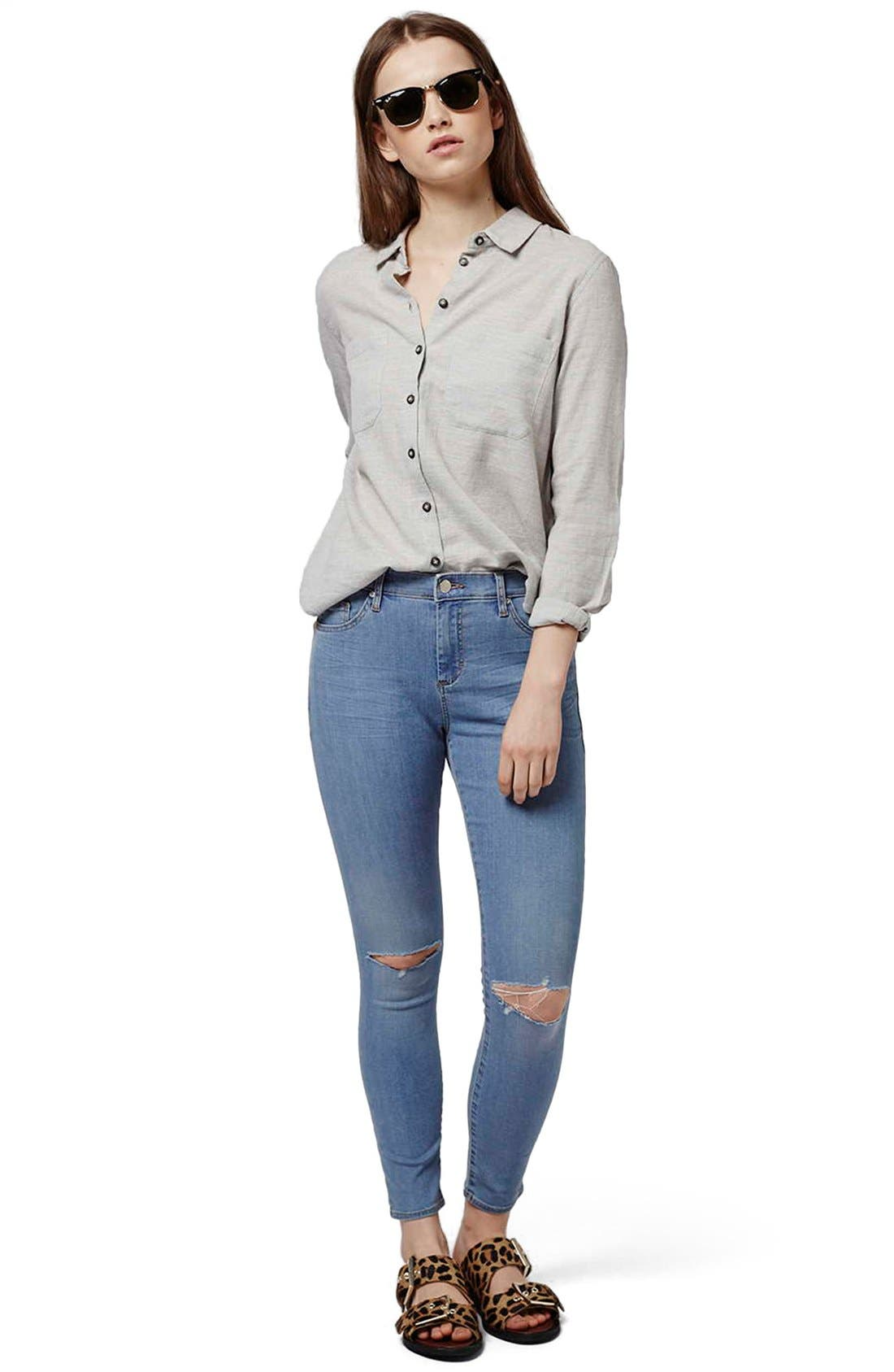 Alternate Image 3  - Topshop 'Leigh' Ankle Skinny Jeans (Petite)