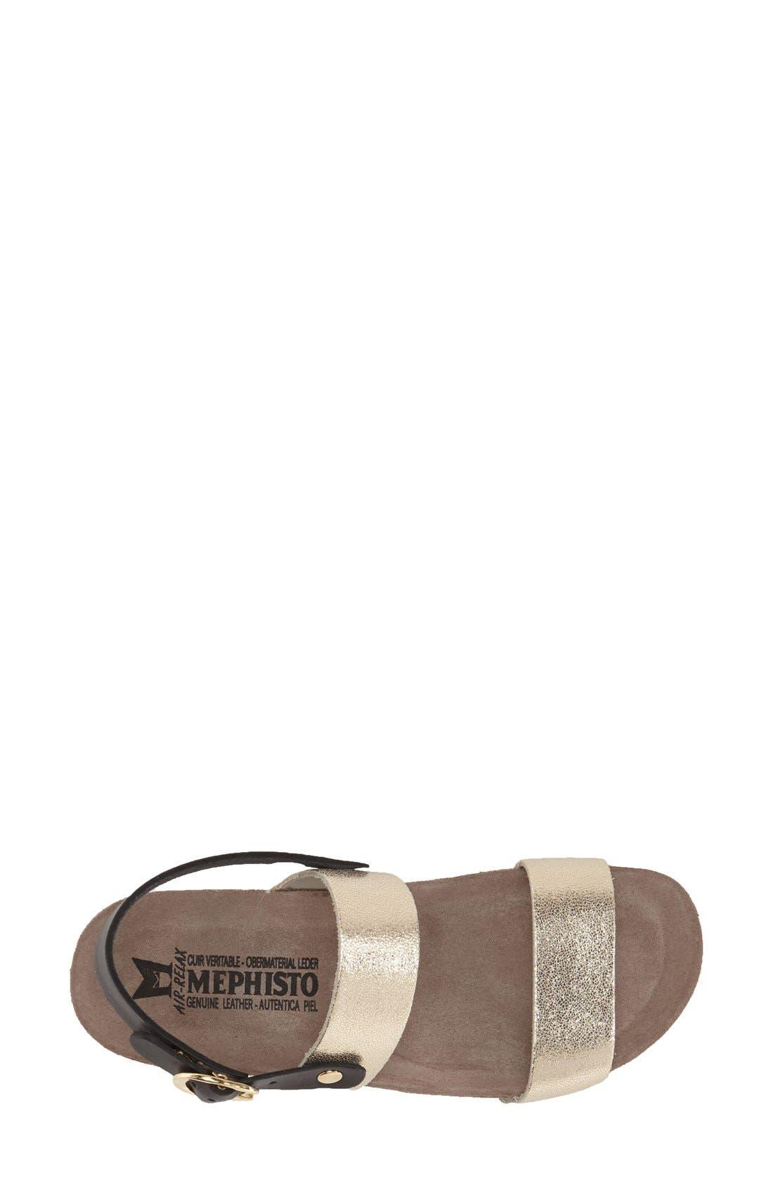 'Italia' Sandal,                             Alternate thumbnail 3, color,                             Platinum Leather