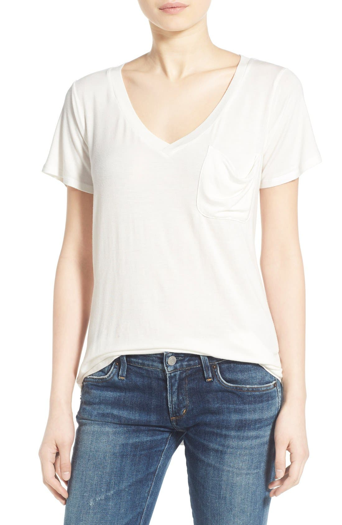 Alternate Image 1 Selected - Socialite V-Neck Pocket Tee