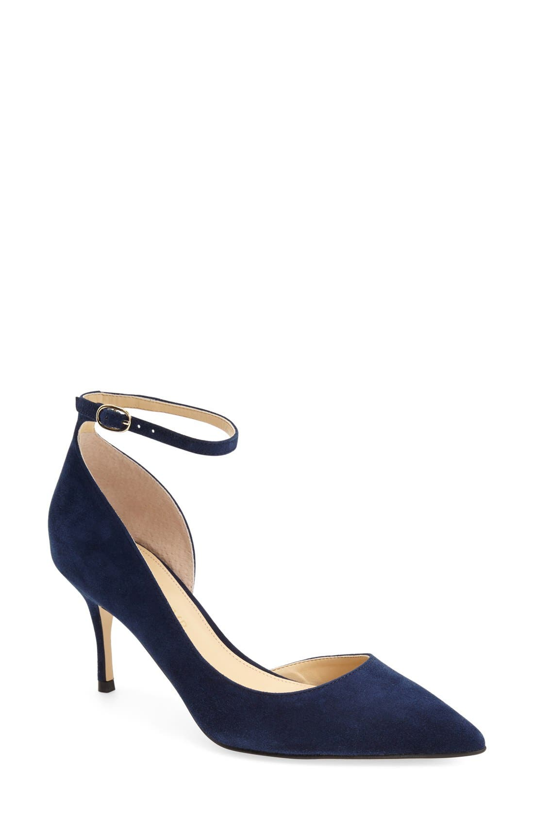 Main Image - Ivanka Trump 'Brita' Ankle Strap Pointy Toe Pump ...
