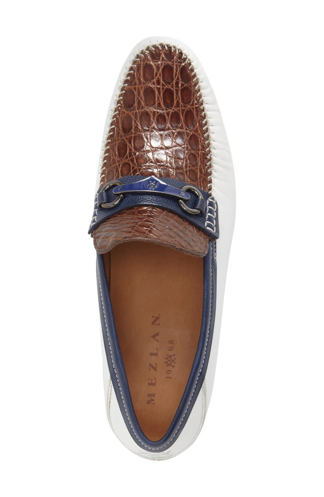 Alternate Image 3  - Mezlan 'Gaudi Venetian' Genuine Crocodile Bit Loafer (Men)