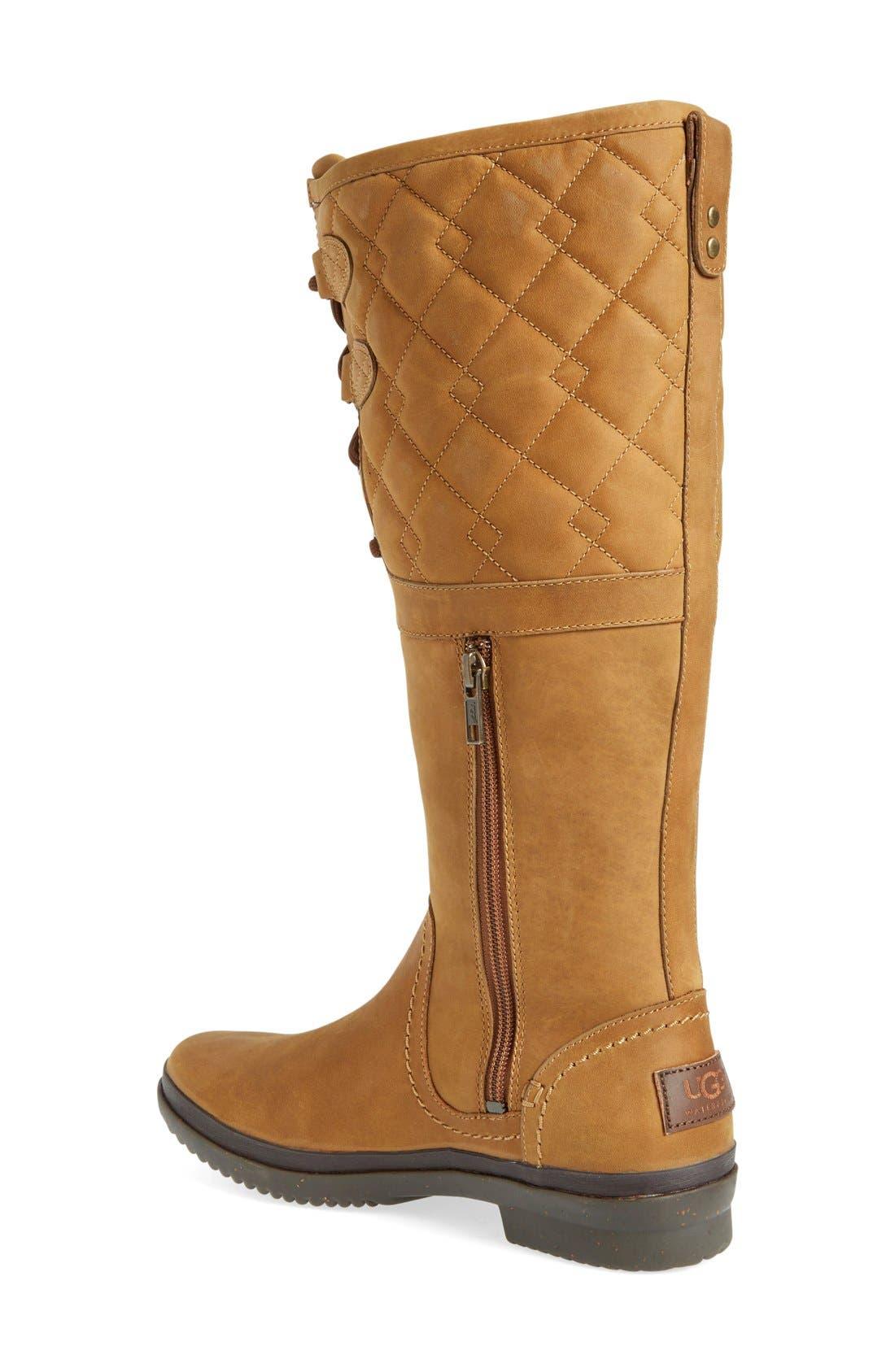 Alternate Image 2  - UGG® Elsa Quilted Waterproof Boot (Women)