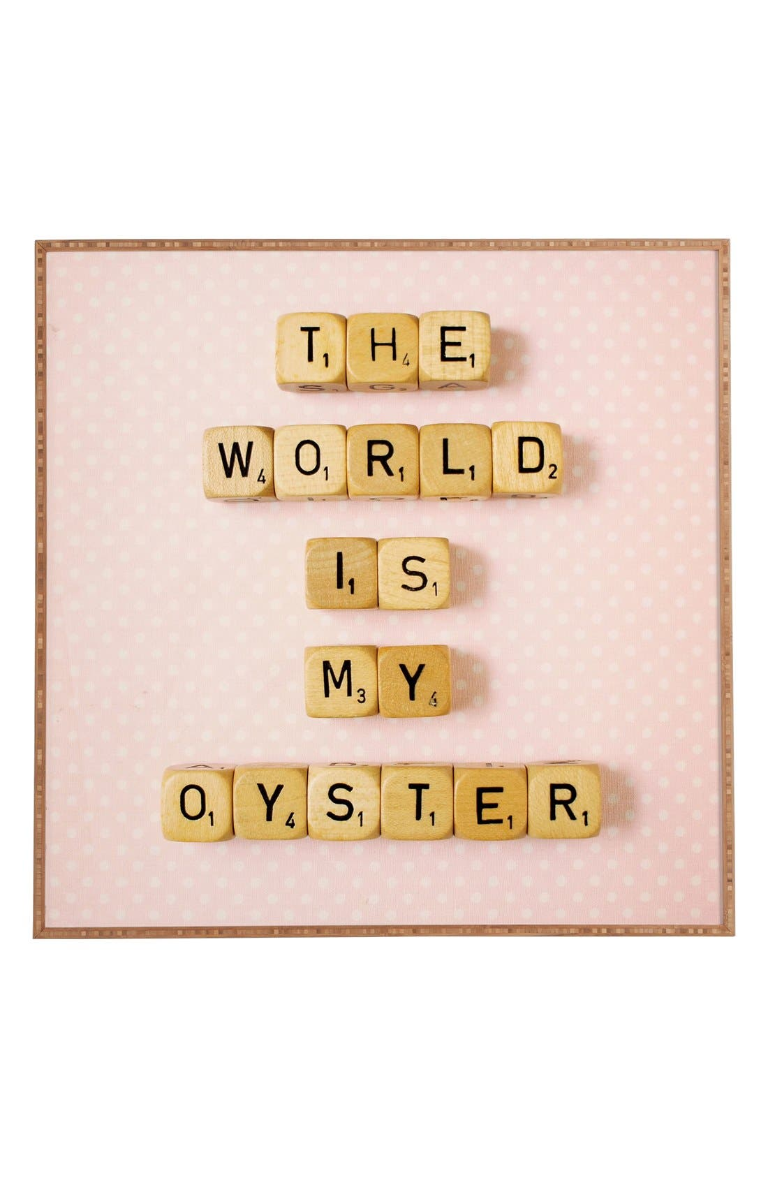 Main Image - DENY Designs 'Happee Monkee - The World Is My Oyster' Wall Art