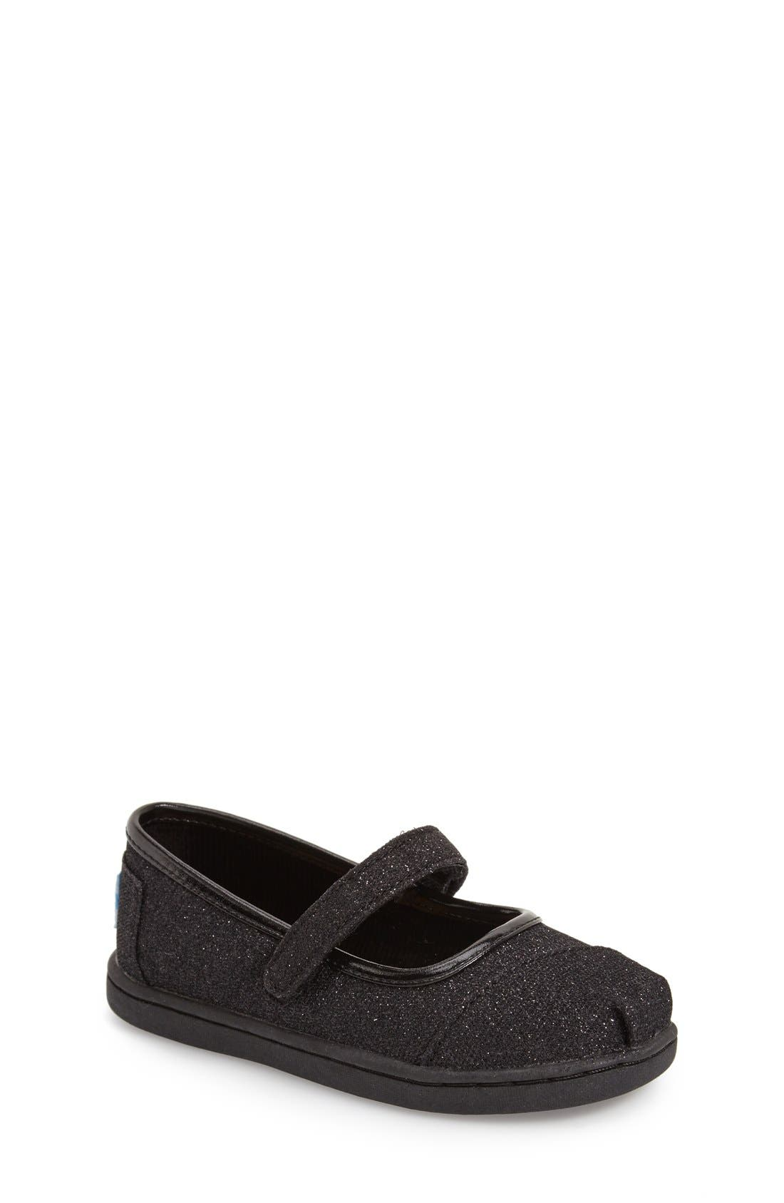 TOMS 'Tiny Glimmer' Mary Jane Flat (Baby, Walker & Toddler)