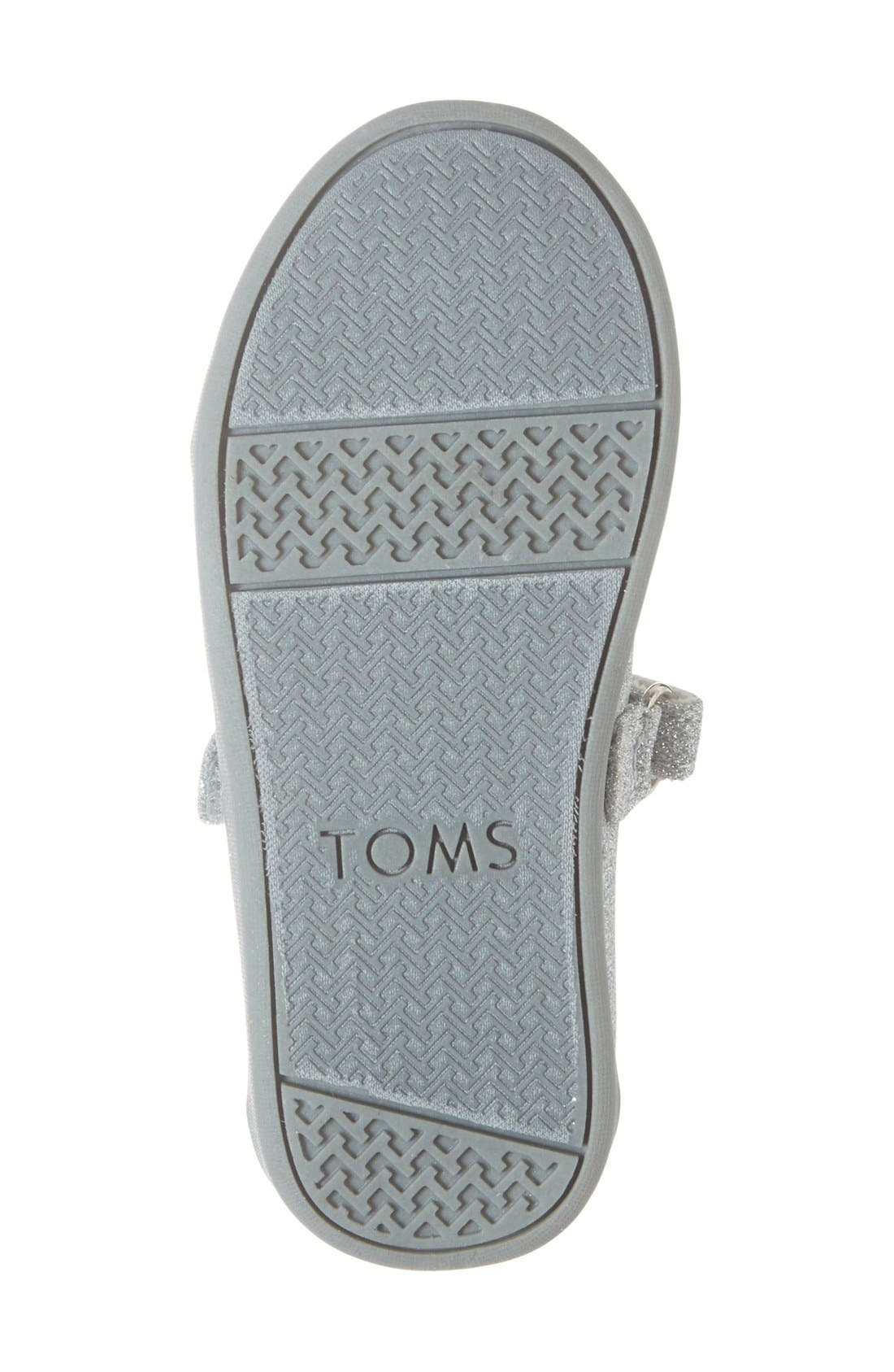 Alternate Image 4  - TOMS 'Tiny Glimmer' Mary Jane Flat (Baby, Walker & Toddler)