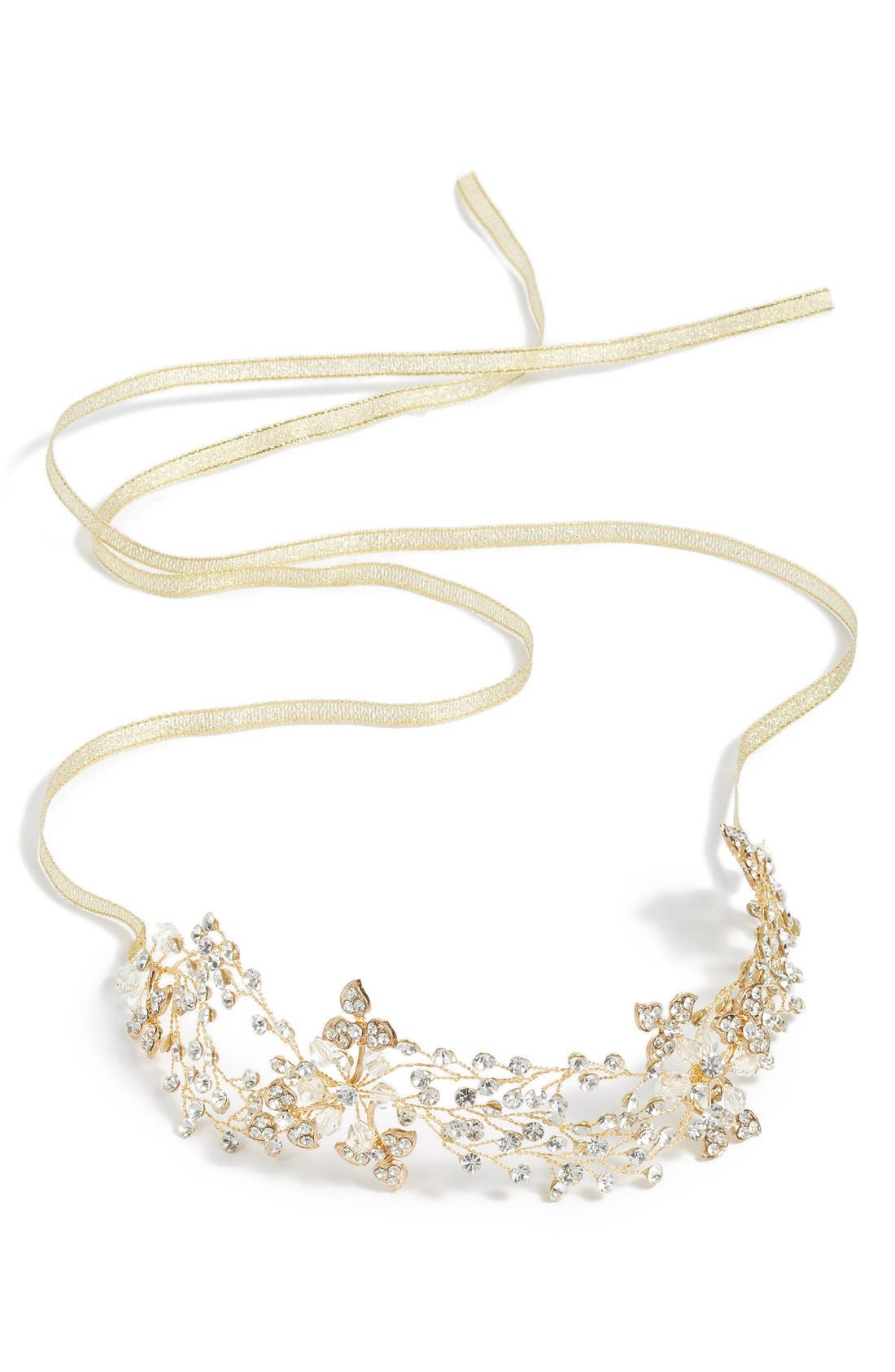 Main Image - Nina Crystal Embellished Floral Head Wrap