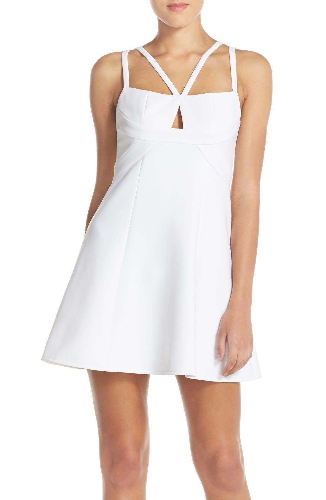 Alternate Image 1 Selected - BCBGMAXAZRIA 'Charlot' Cutout Crepe Fit & Flare Dress