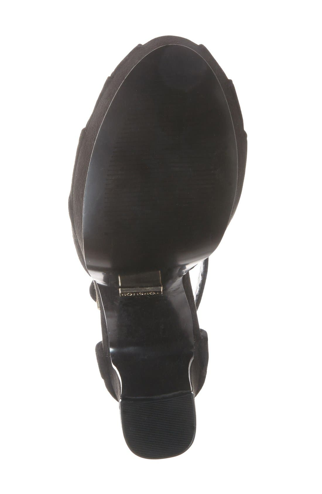 Alternate Image 4  - Topshop 'Sienna' Platform Peep Toe Sandal (Women)