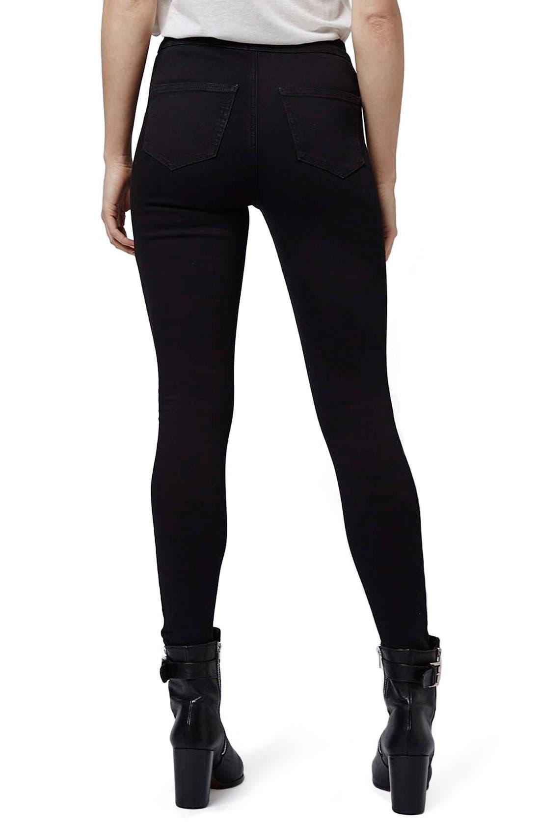 Alternate Image 3  - Topshop 'Joni' High Rise Skinny Jeans (Petite)