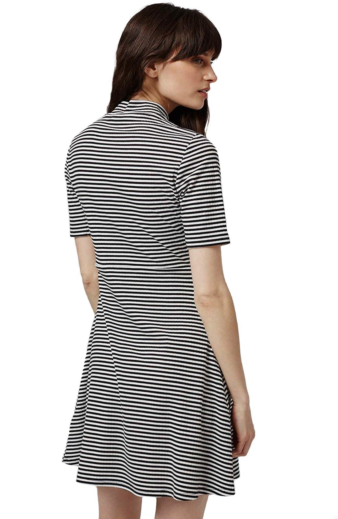 Alternate Image 3  - Topshop Stripe Flippy Dress (Petite)