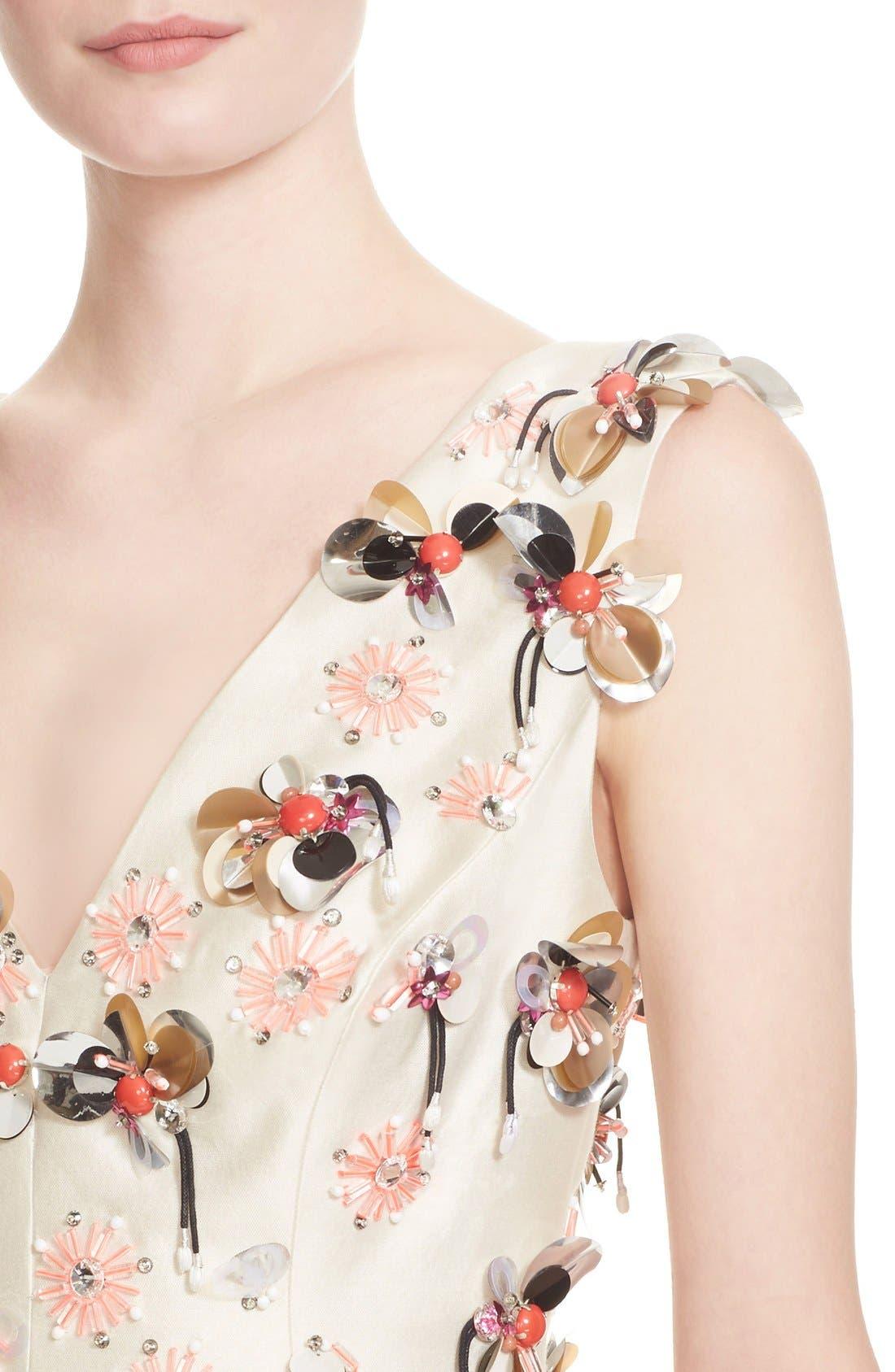 Alternate Image 6  - Lela Rose Embellished Wool & Silk A-Line Dress