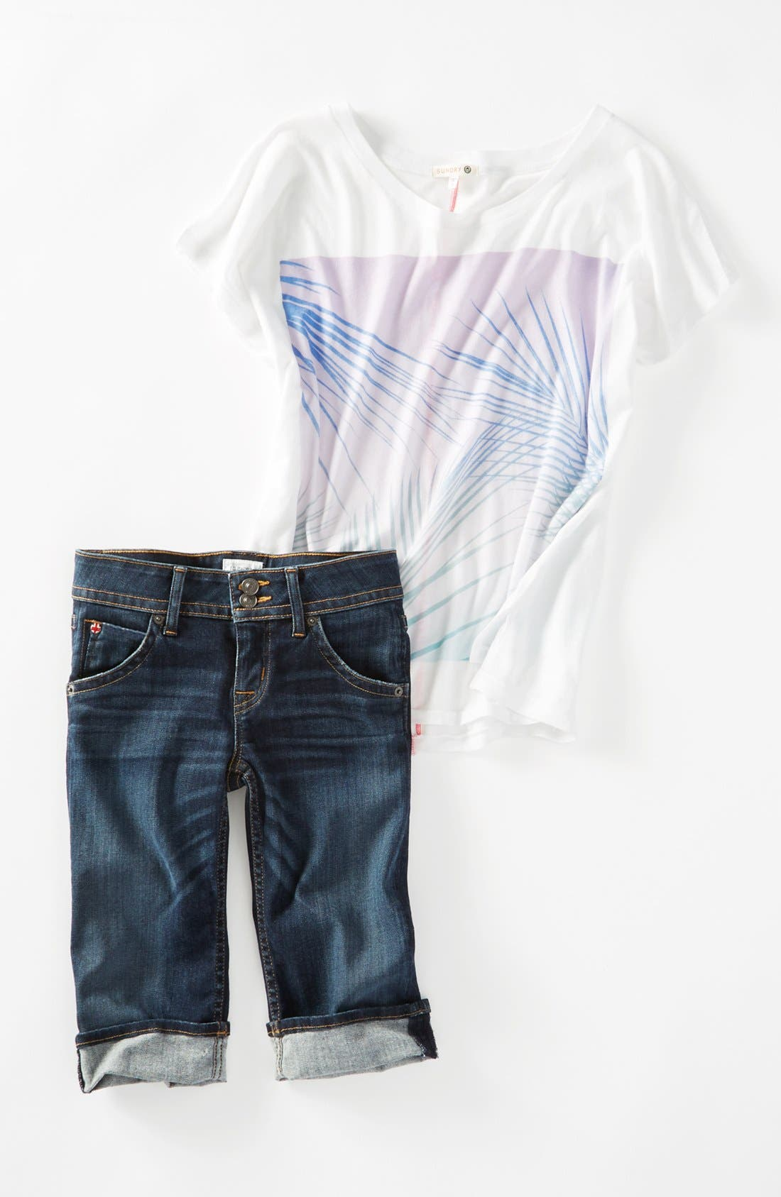 'Palerme' Cuff Bemuda Shorts,                             Alternate thumbnail 6, color,