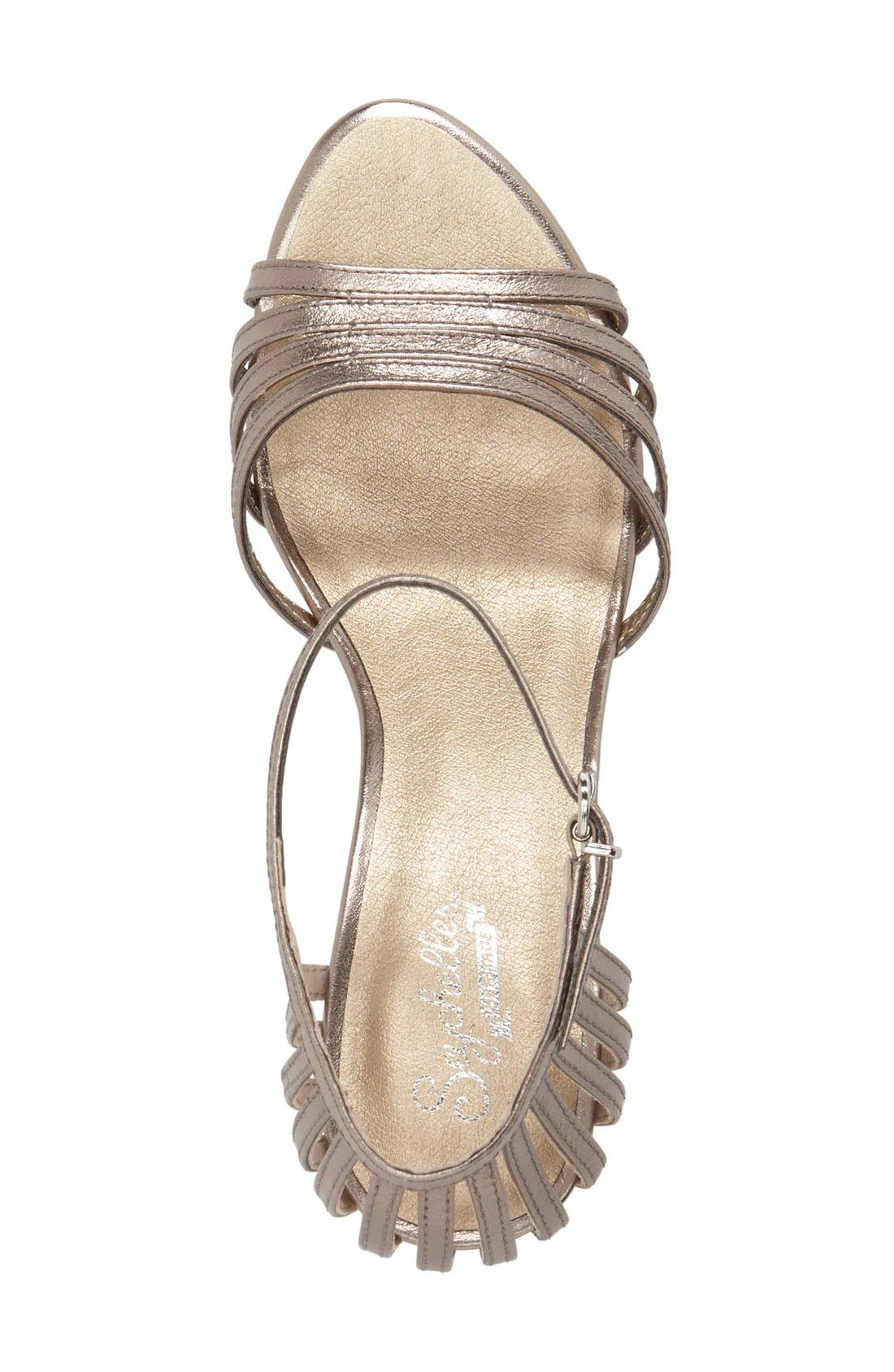'Song and Dance' Ankle Strap Pump,                             Alternate thumbnail 3, color,                             Pewter Leather