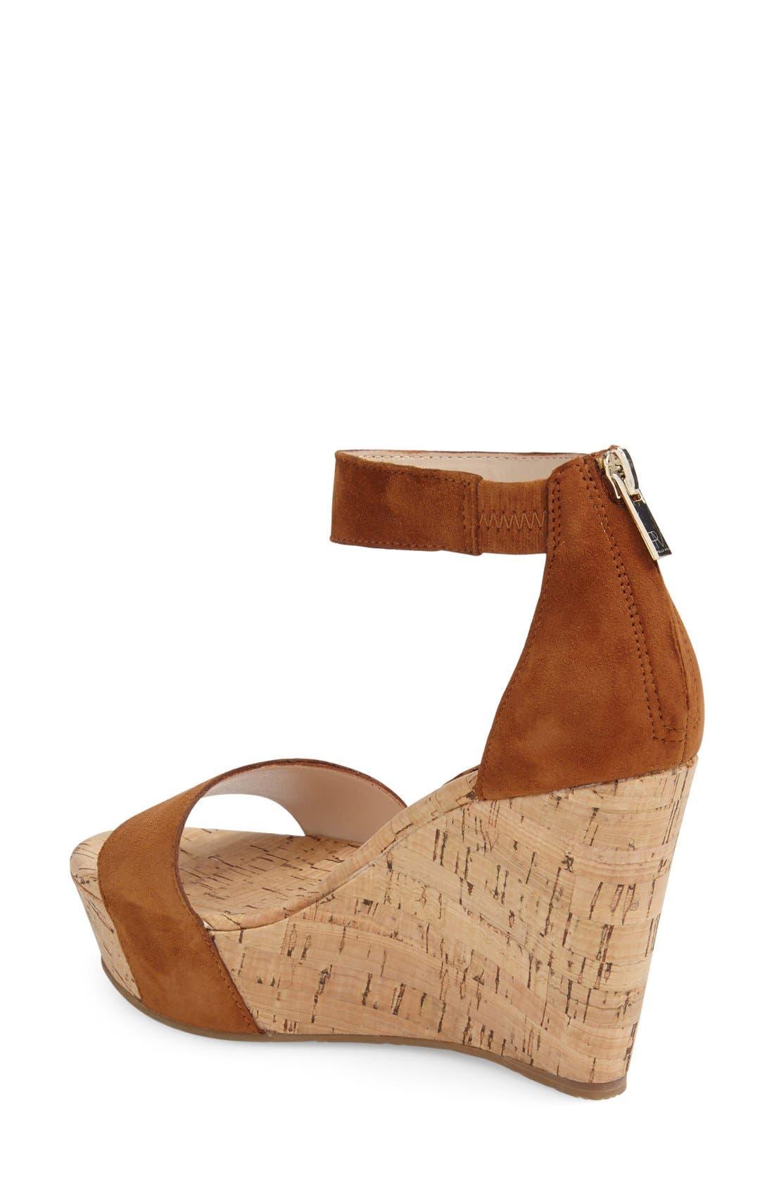 'Clare' Sandal,                             Alternate thumbnail 2, color,                             Cognac Leather
