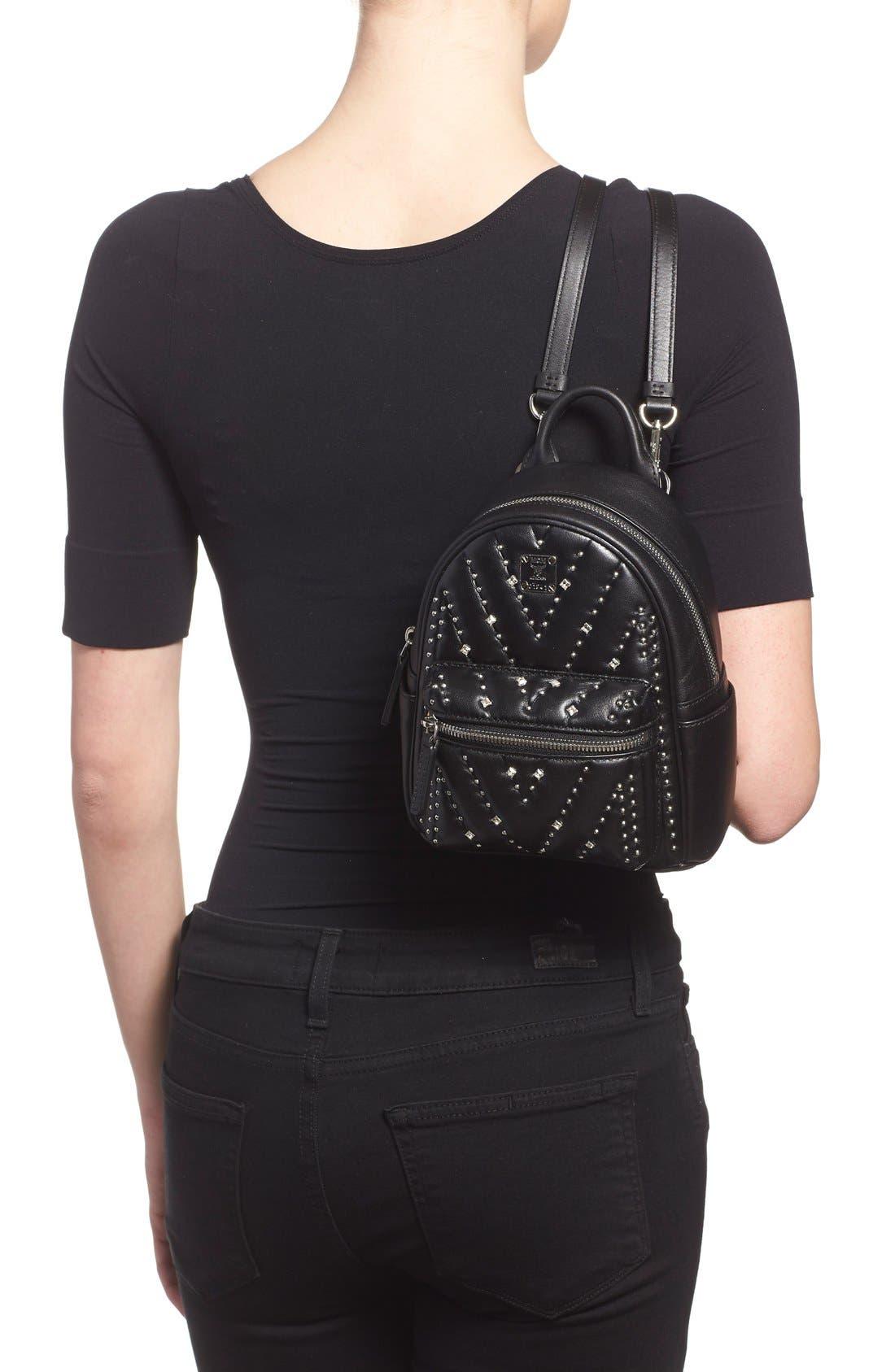 Alternate Image 2  - MCM 'X Mini Diamond Disco' Leather Backpack