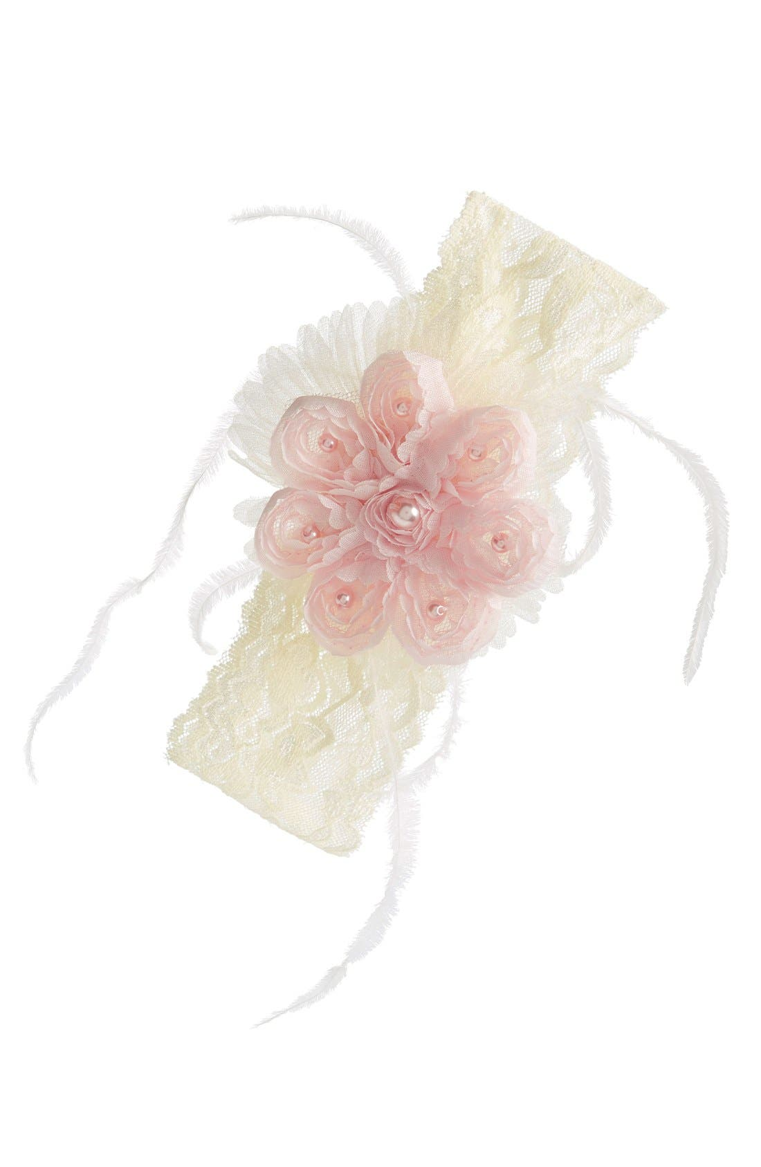 Alternate Image 1 Selected - PLH Bows & Laces Headband (Baby Girls & Toddler Girls)