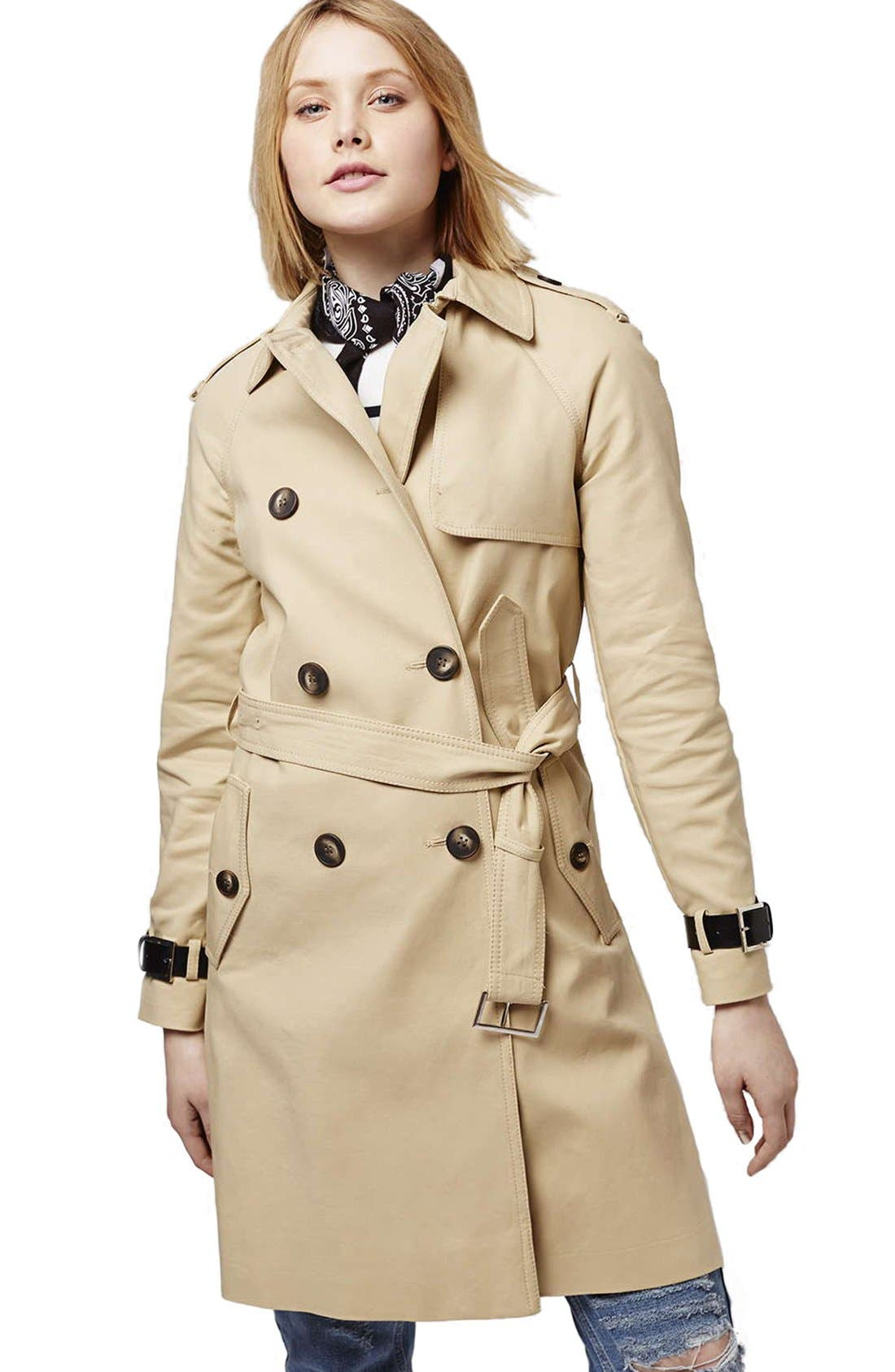 Alternate Image 4  - Topshop Military Trench Coat