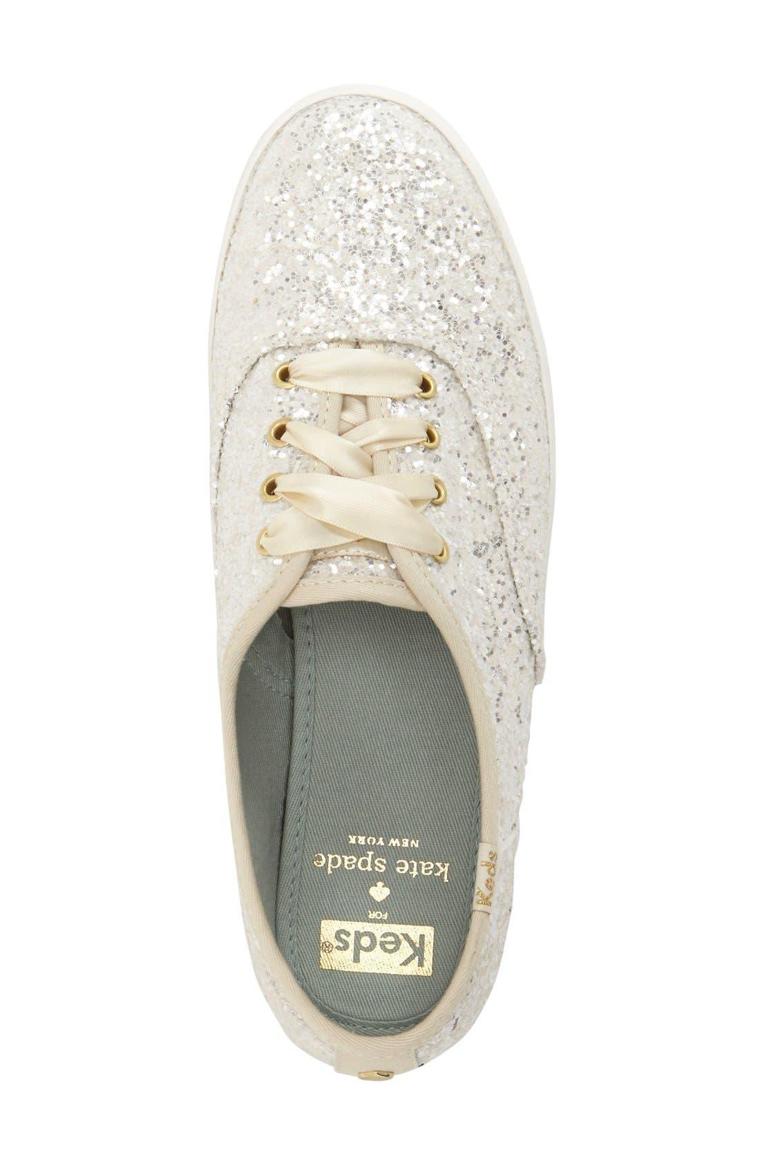 Alternate Image 3  - Keds® for kate spade new york glitter sneaker (Women)
