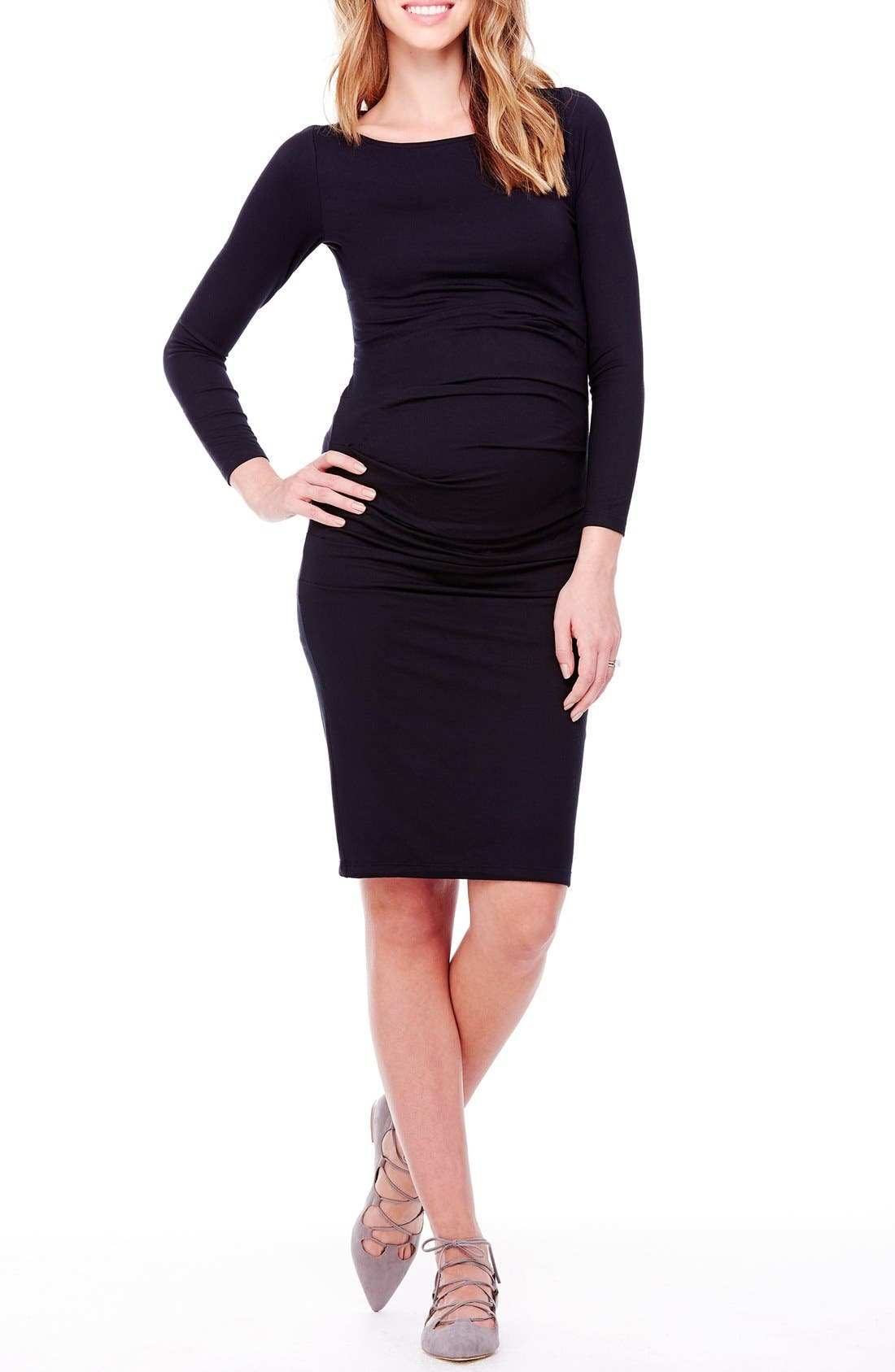 Main Image - Ingrid & Isabel® Shirred Maternity Dress