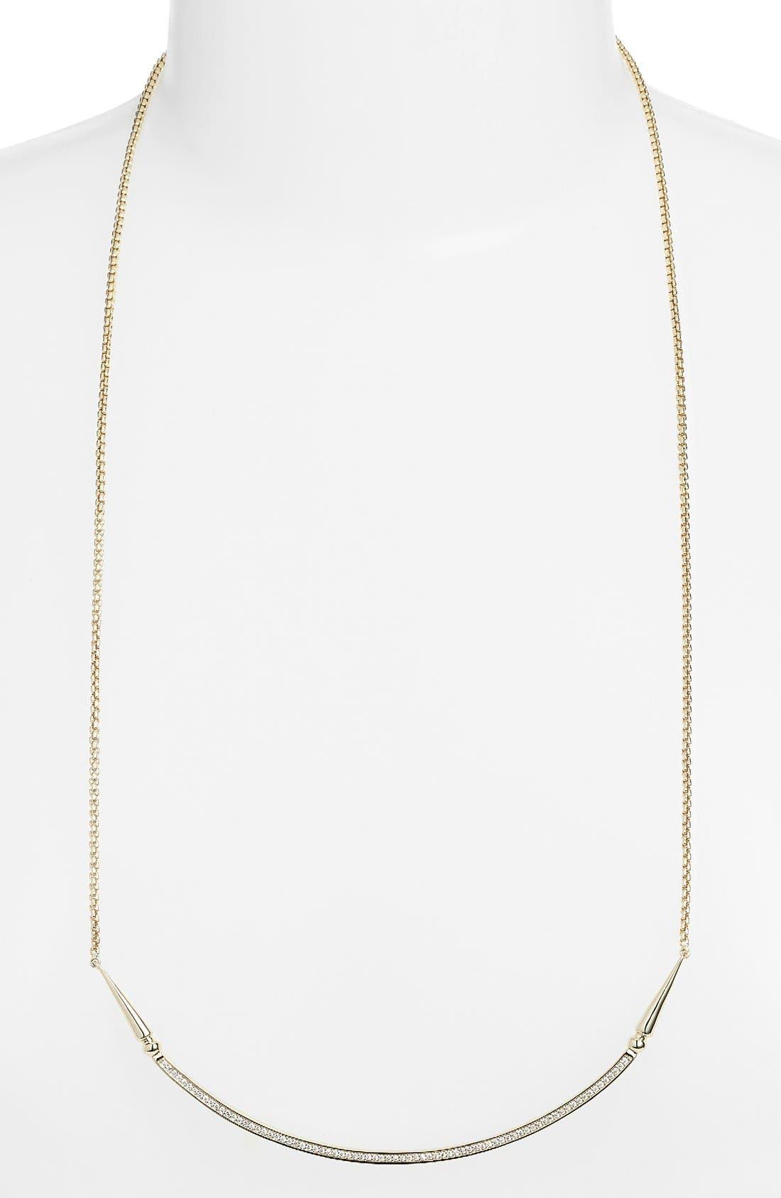 'Scottie' Pendant Necklace,                             Main thumbnail 1, color,                             Gold