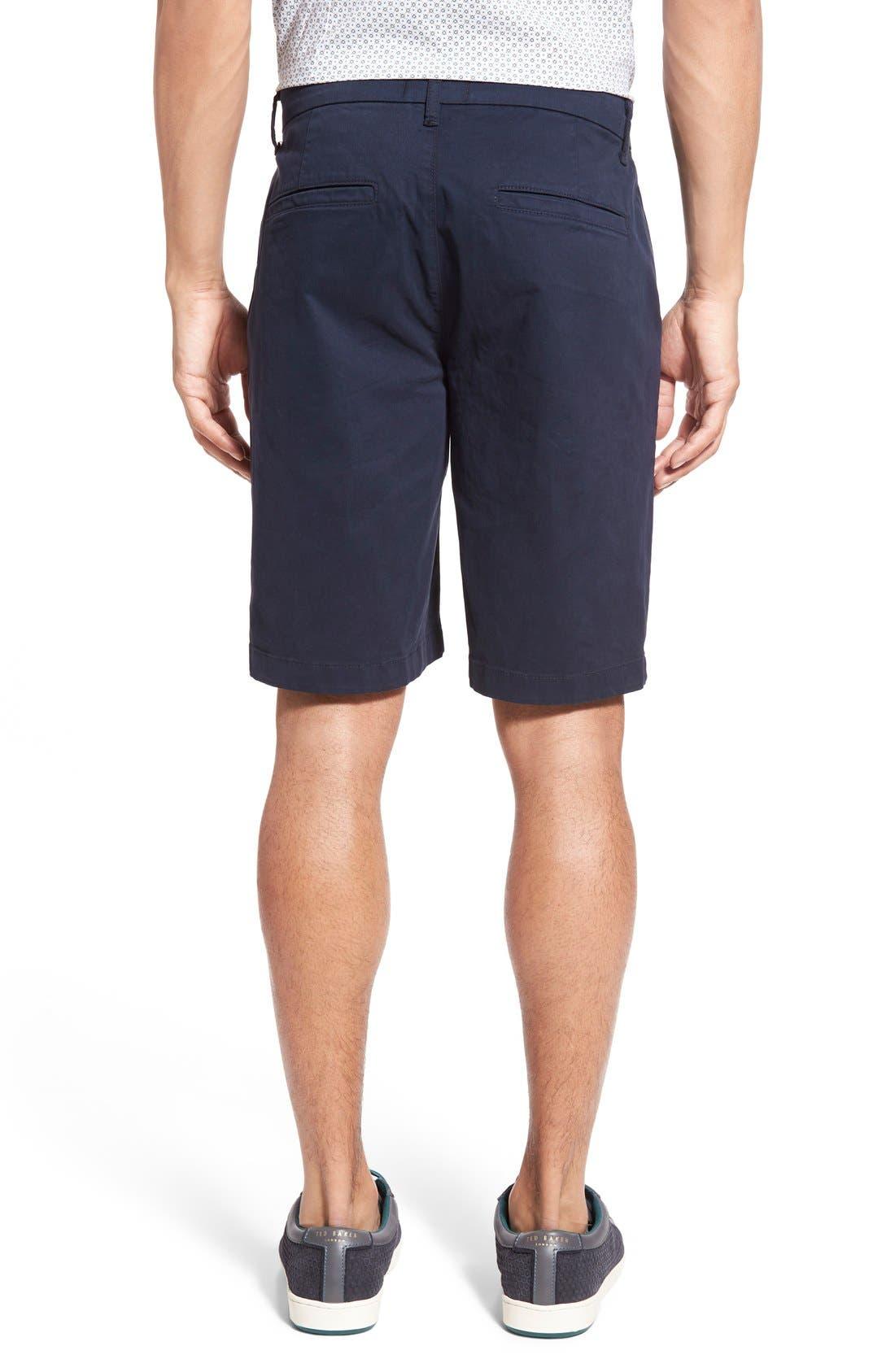'Thompson' Slim Fit Shorts,                             Alternate thumbnail 2, color,                             Navy Cadet