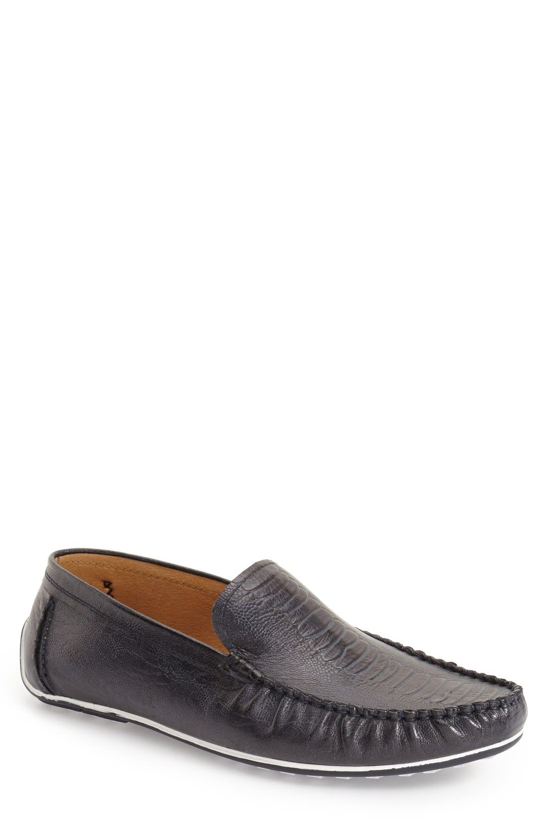 'Rembrandt' Driving Loafer,                             Main thumbnail 1, color,                             Blue Leather