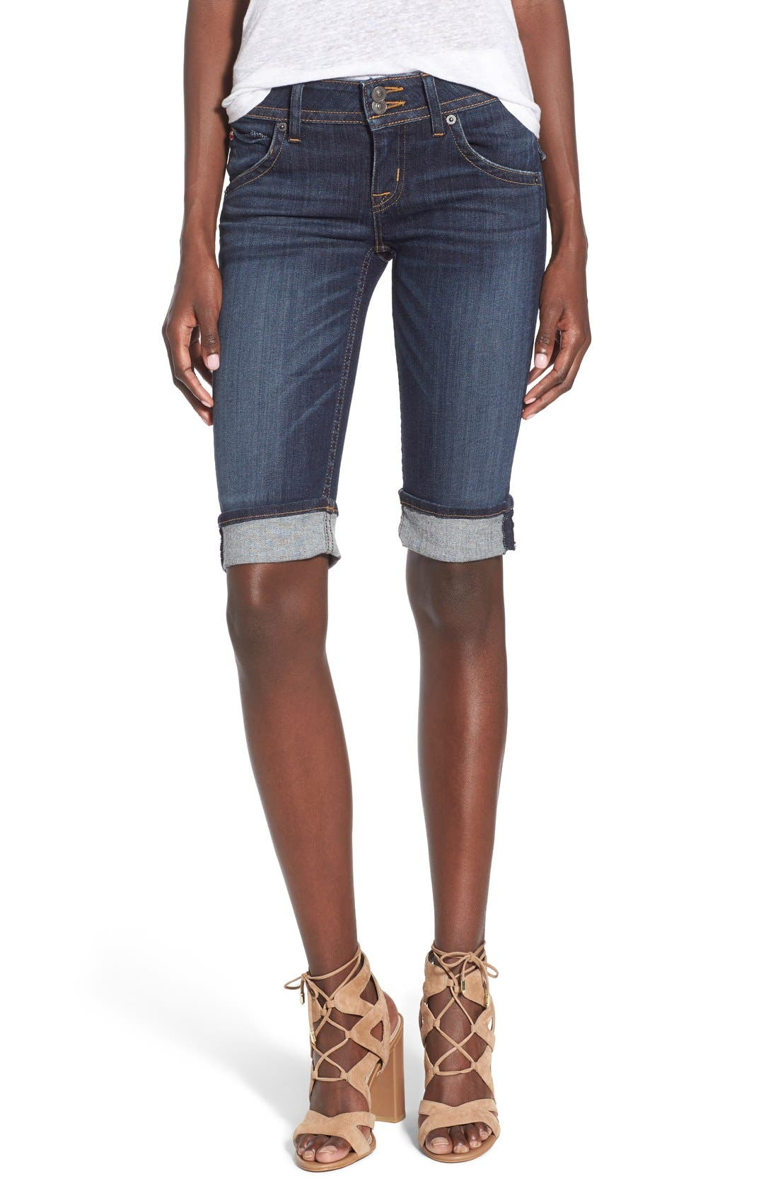 'Palerme' Cuff Bemuda Shorts,                         Main,                         color, Elemental