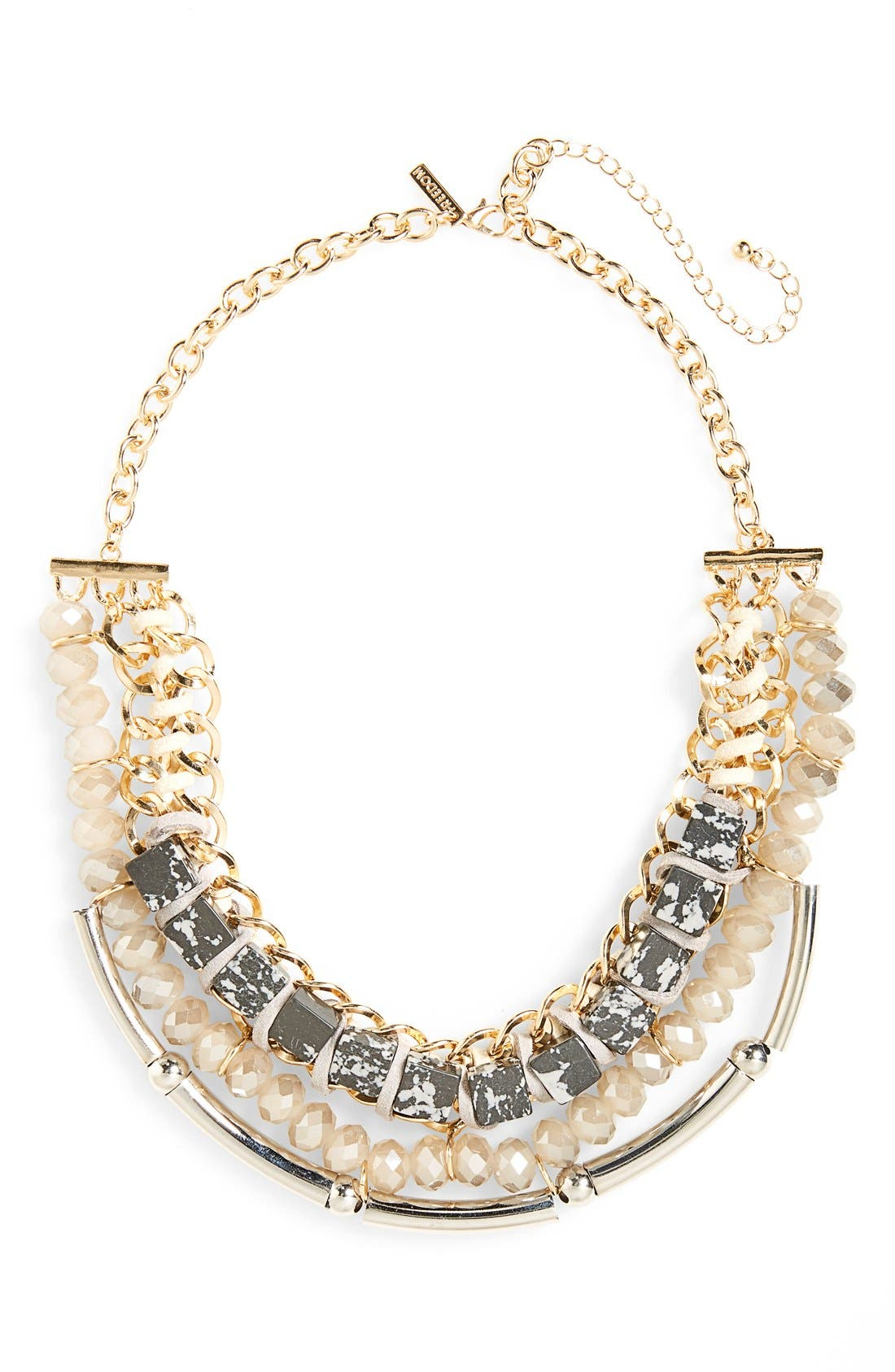 Alternate Image 1 Selected - Topshop Chunky Stone & Crystal Statement Necklace