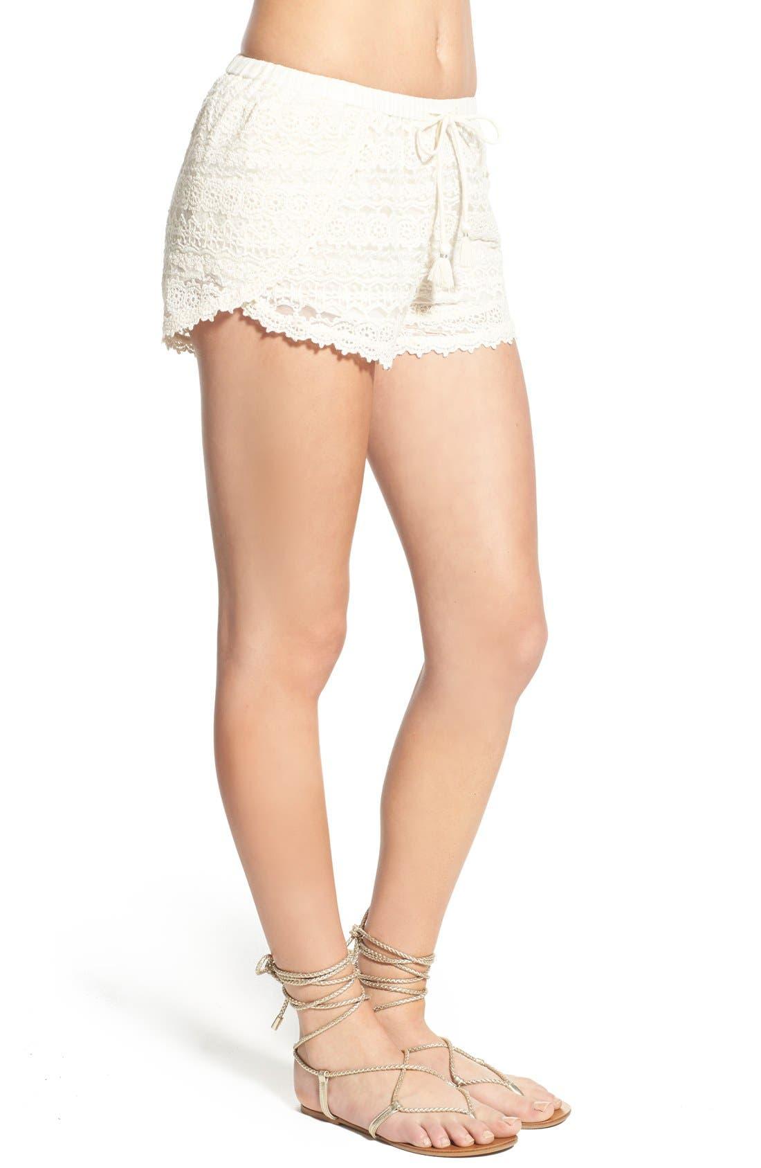 Alternate Image 3  - Amuse Society 'Chelles' Lace Shorts