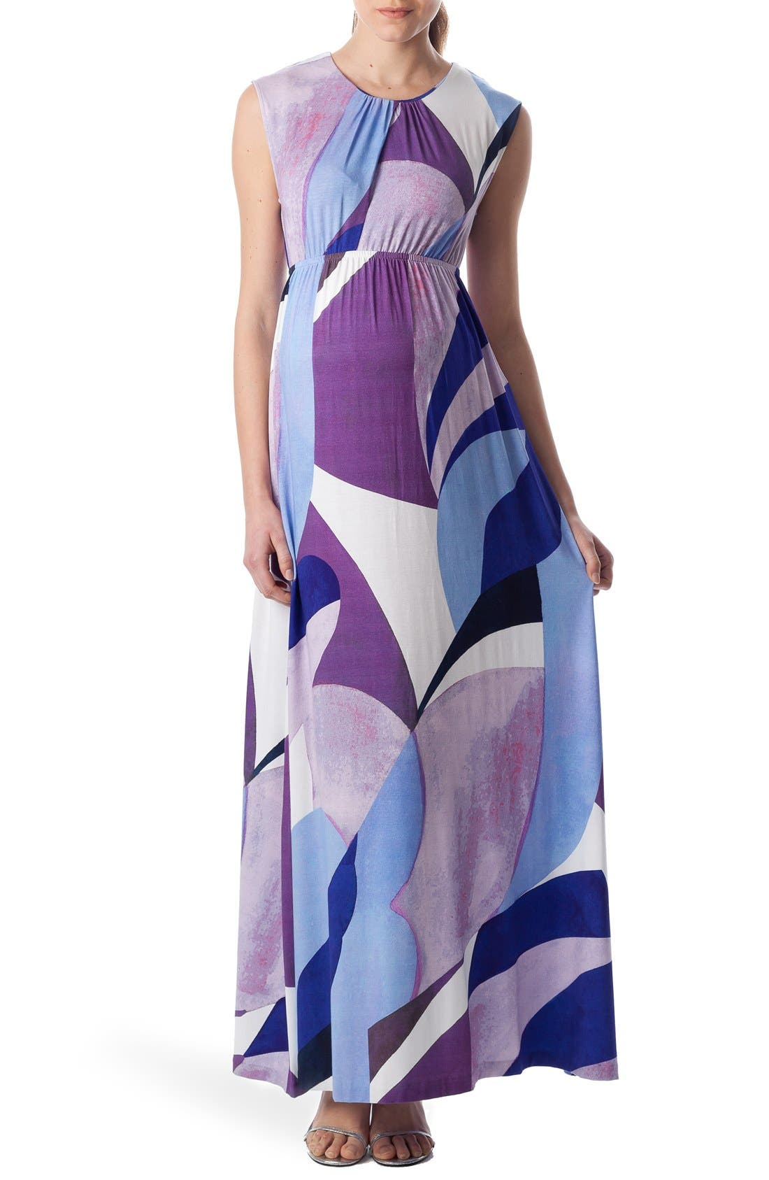 PIETRO BRUNELLI Alassio Graphic Maternity Maxi Dress