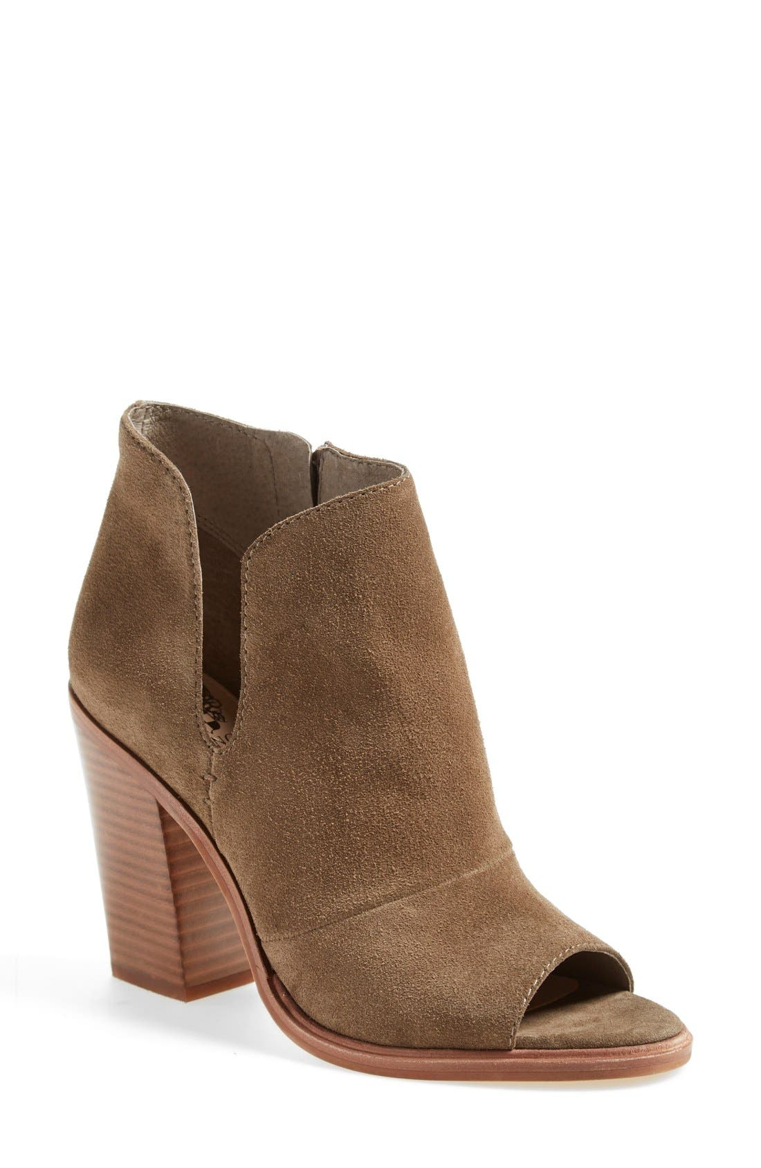 Alternate Image 1 Selected - Vince Camuto 'Katleen' Peep Toe Bootie (Women) (Nordstrom Exclusive)