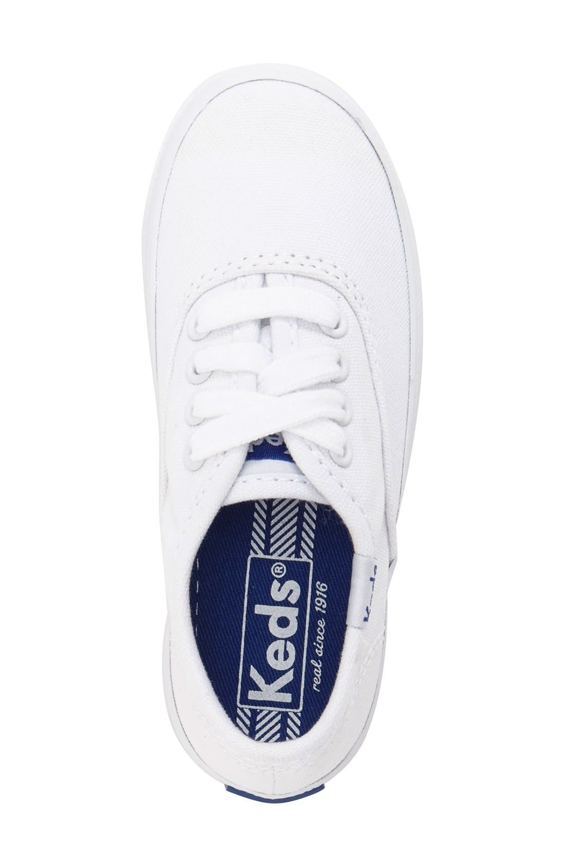 'Champion Canvas' Sneaker,                             Alternate thumbnail 3, color,                             White