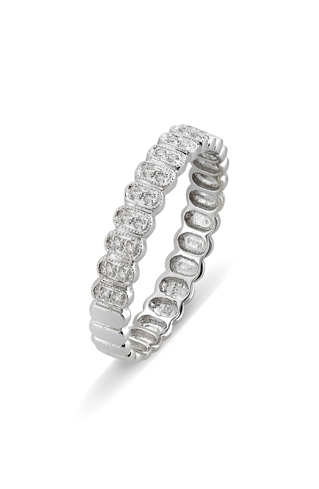 Main Image - Bony Levy Diamond Oval Stacking Ring (Nordstrom Exclusive)