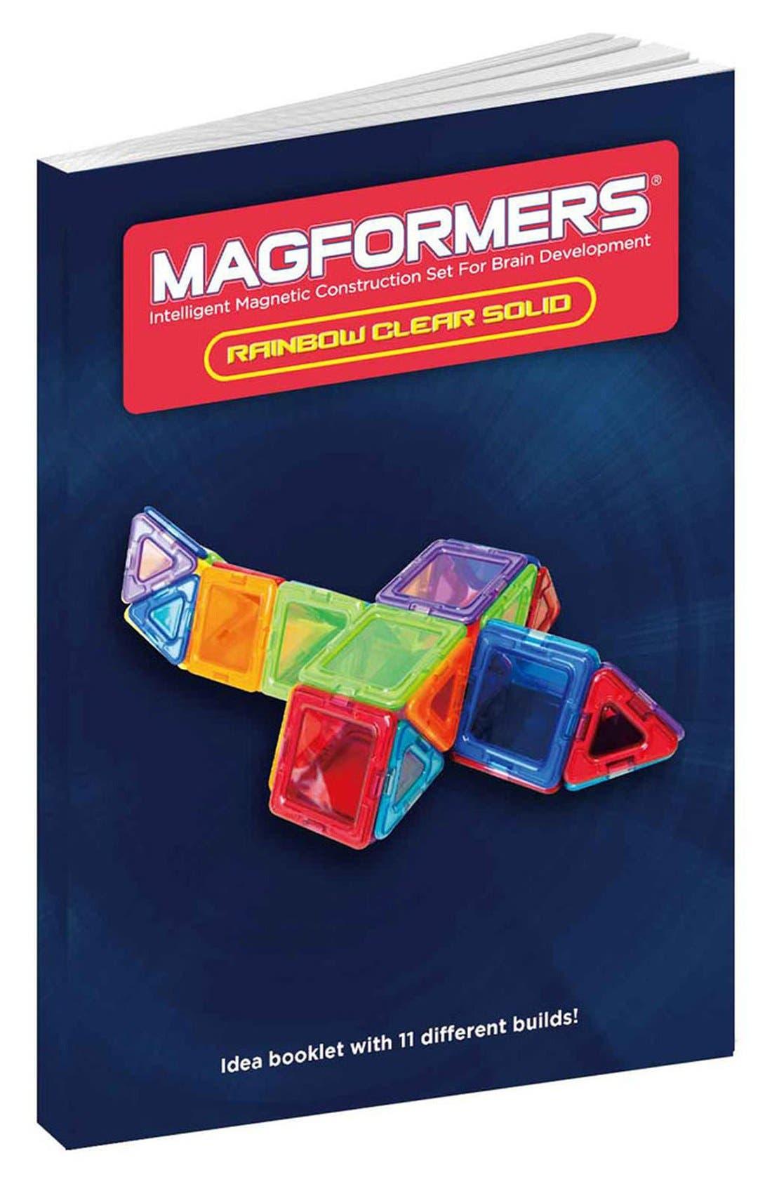 'Standard - Solids' Clear Magnetic 3D Construction Set,                             Alternate thumbnail 3, color,                             Rainbow