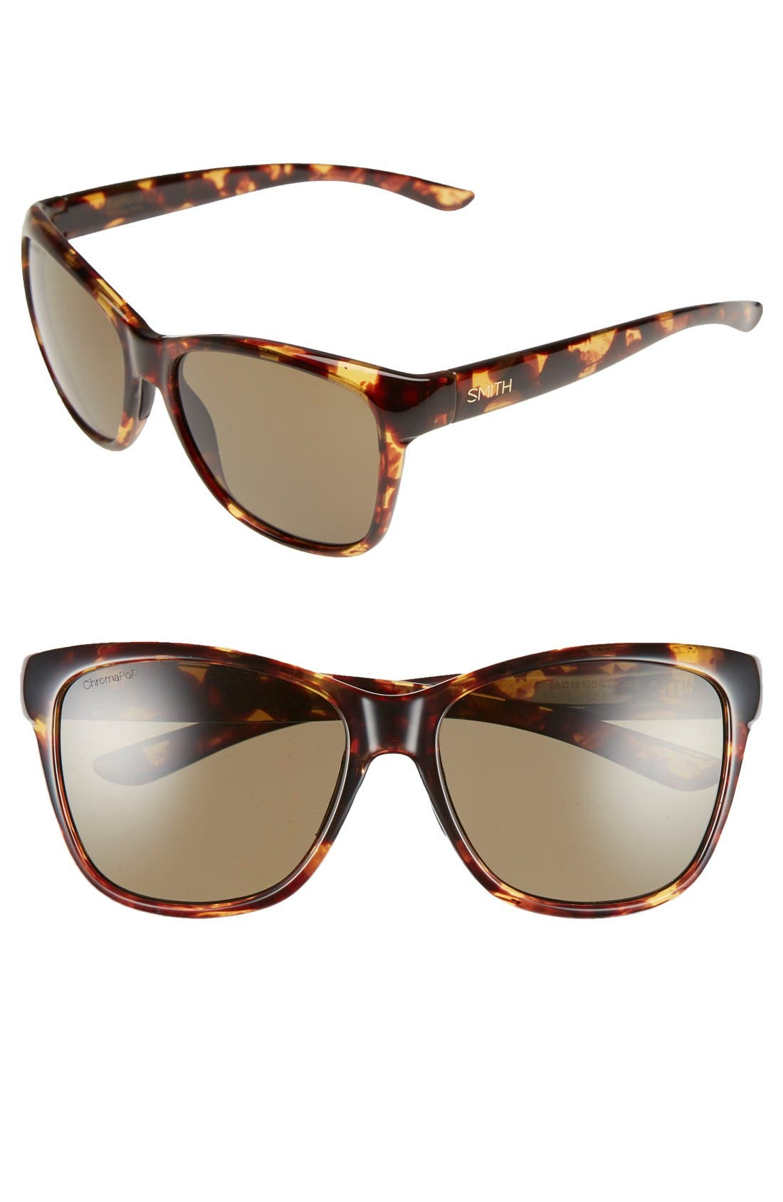 'Ramona' 56mm ChromaPop Polarized Sunglasses,                         Main,                         color, Tortoise/ Polarized Grey Green