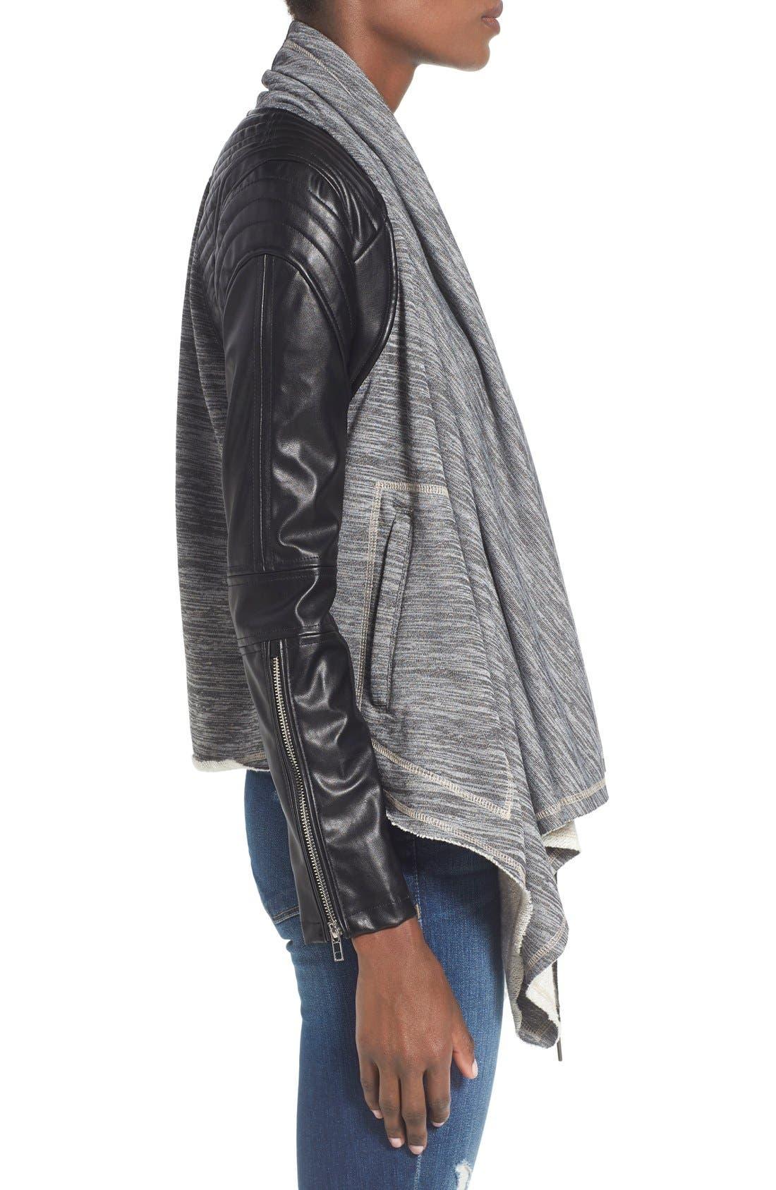 Alternate Image 3  - BLANKNYC 'Dating & Waiting' Drape Front Jacket