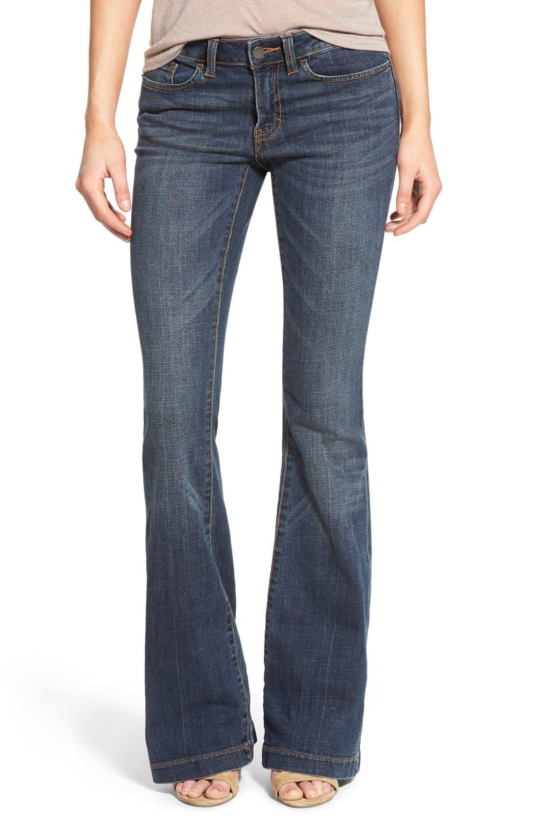 Main Image - BP. Mid Rise Flare Jeans (Dark Bloom)